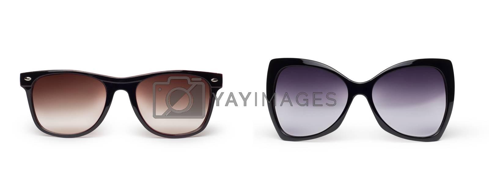Fashion Sun glasses isolated on white
