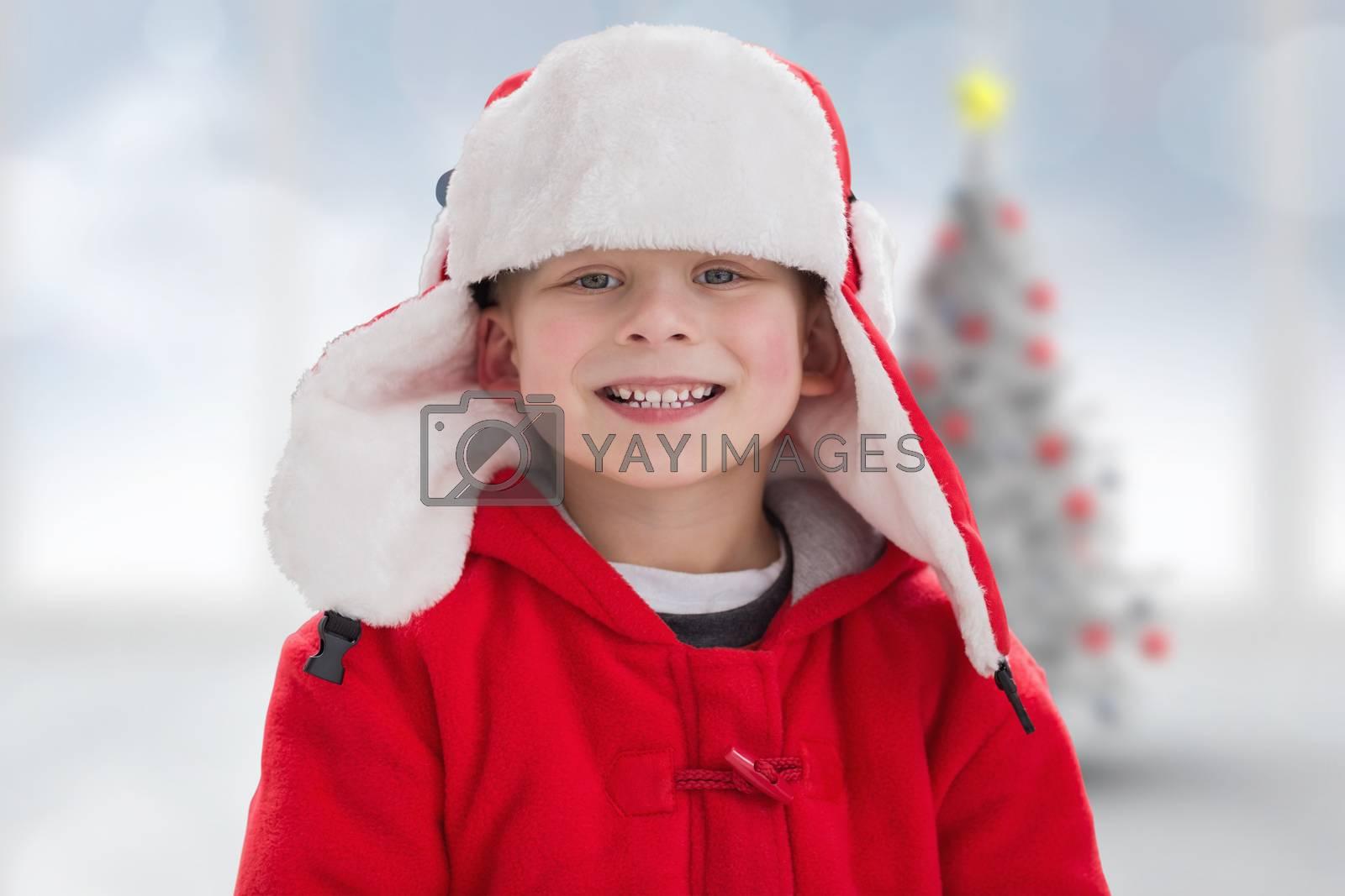 Composite image of cute boy in hat by Wavebreakmedia