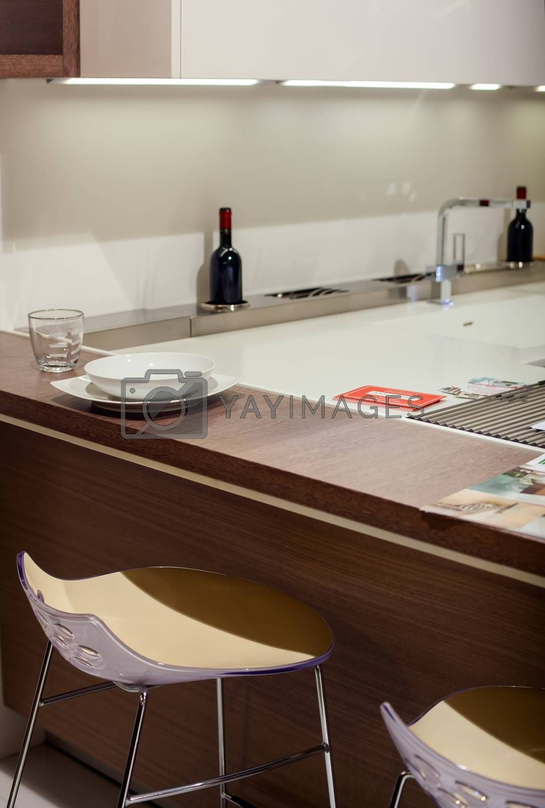 Viev of forniture for domestic kitchen