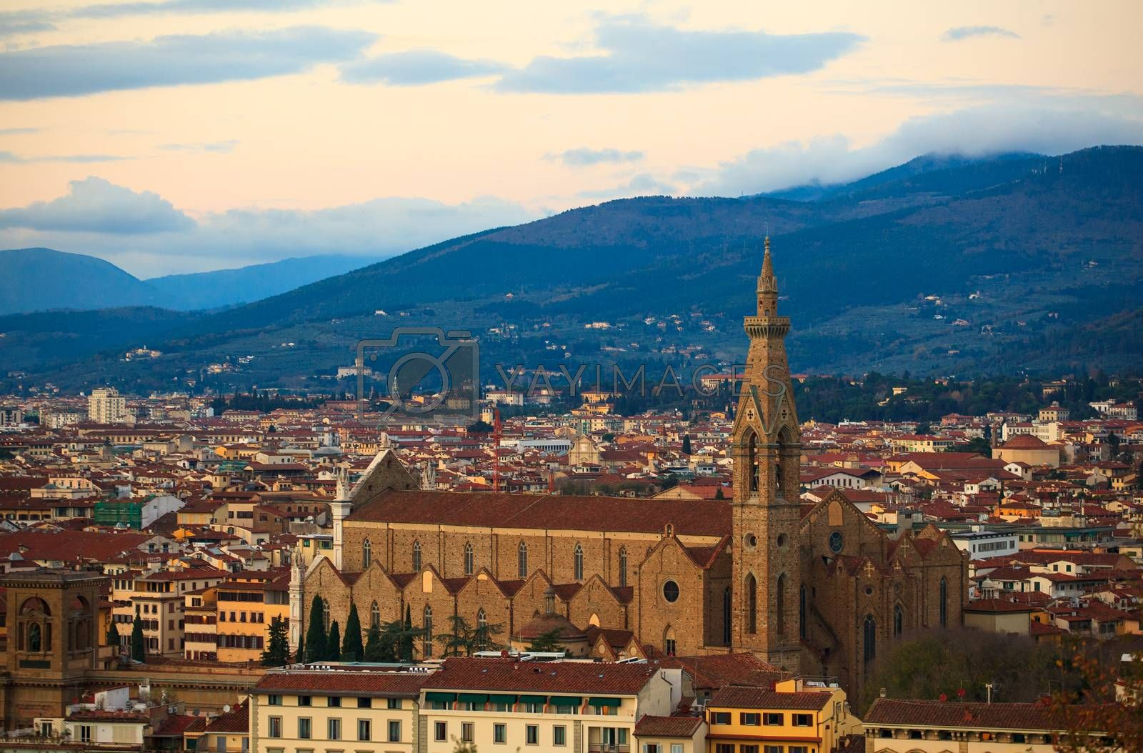 View of the Basilica of St Lawrence in Florence, Tuscany. Italy