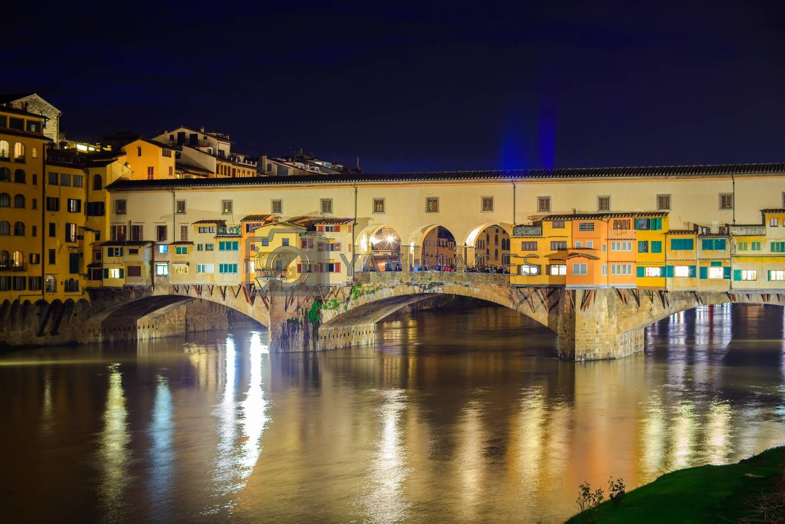 View of Ponte Vecchio in Florence, tuscany. Italy