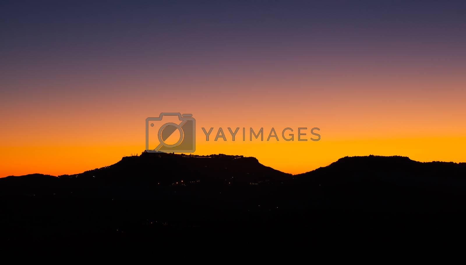 Enna and Calascibetta skyline by bepsimage
