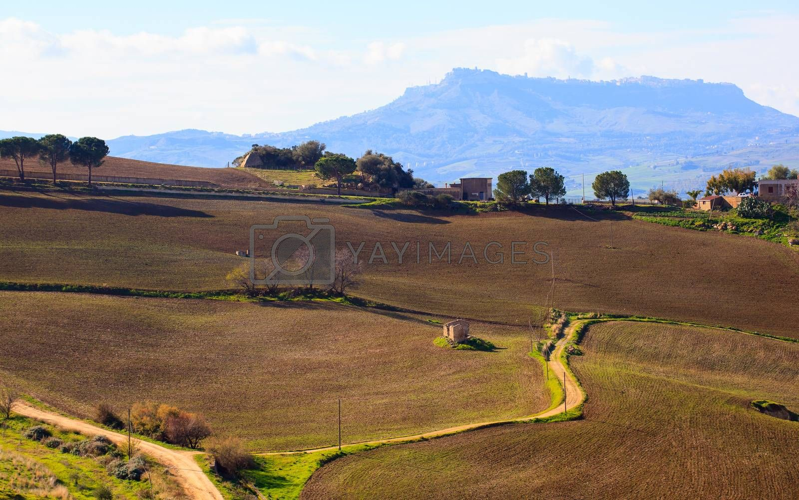 Leonforte countryside by bepsimage