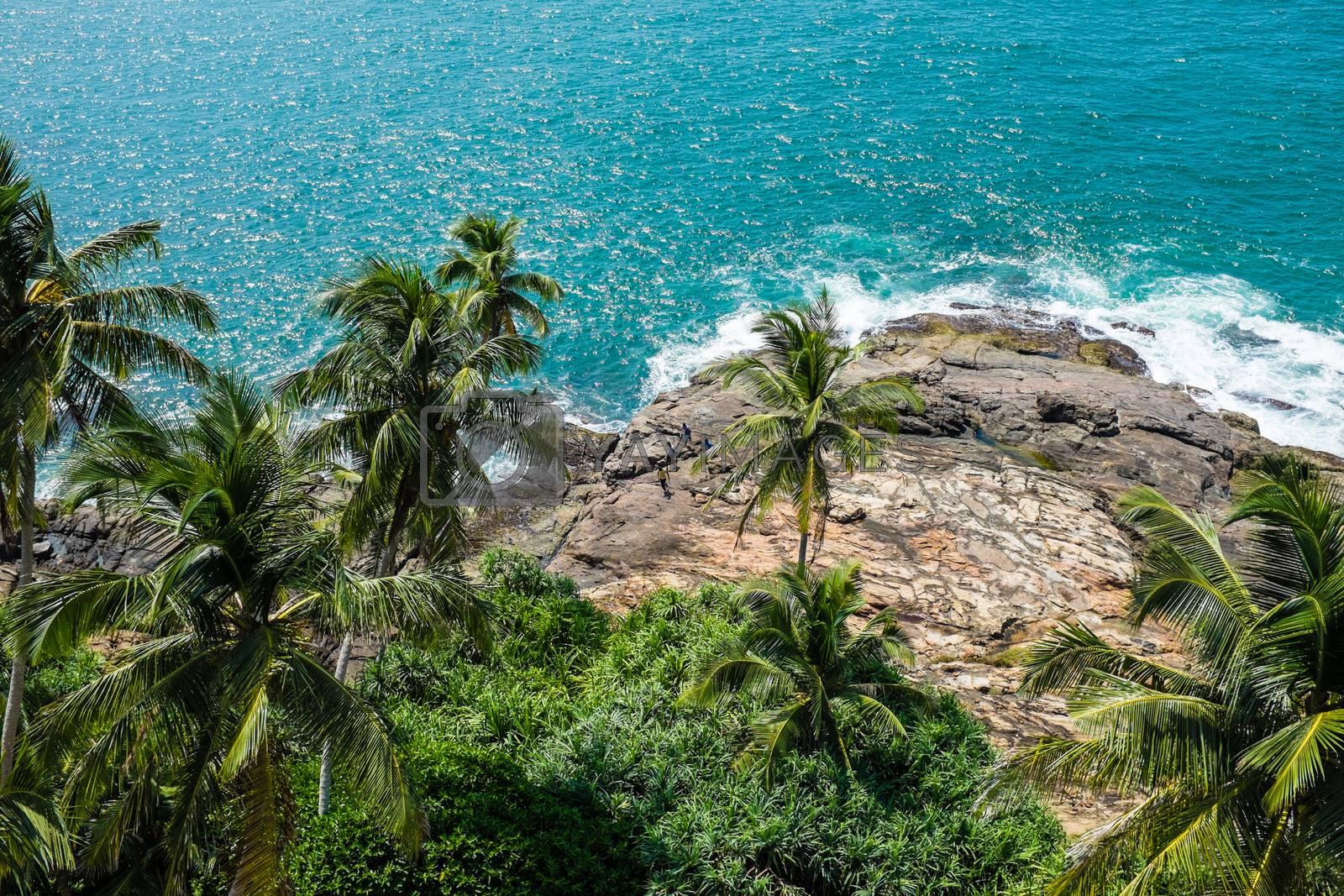 Indian ocean beach near Beruwala, Sri-Lanka