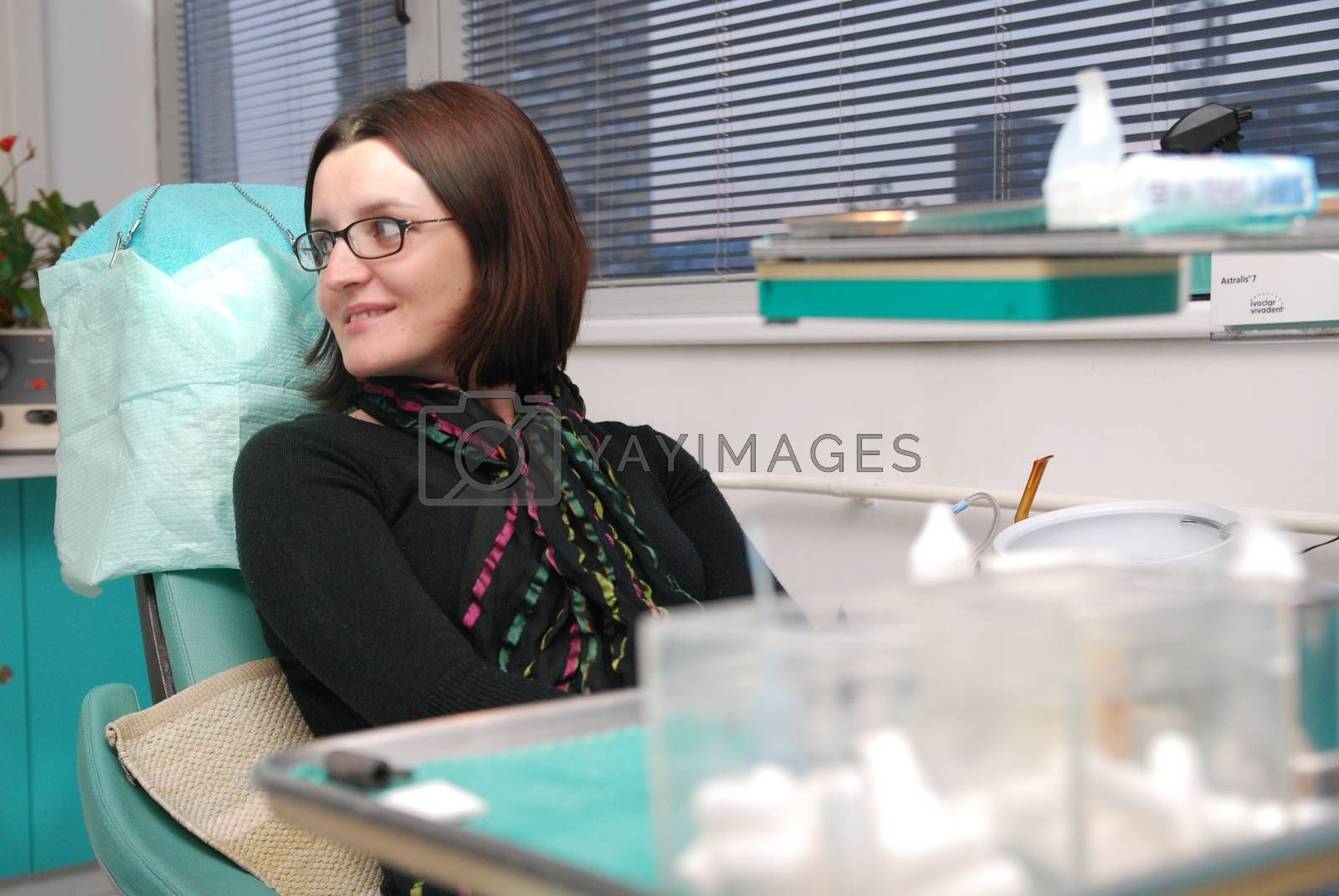 girl on dentist chair