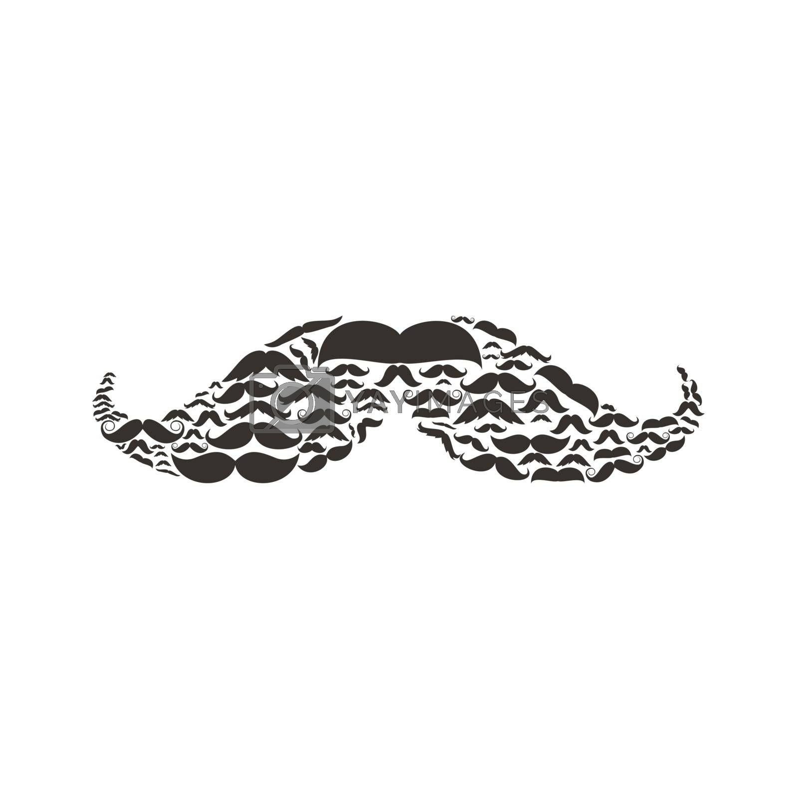Moustaches made of moustaches. A vector illustration