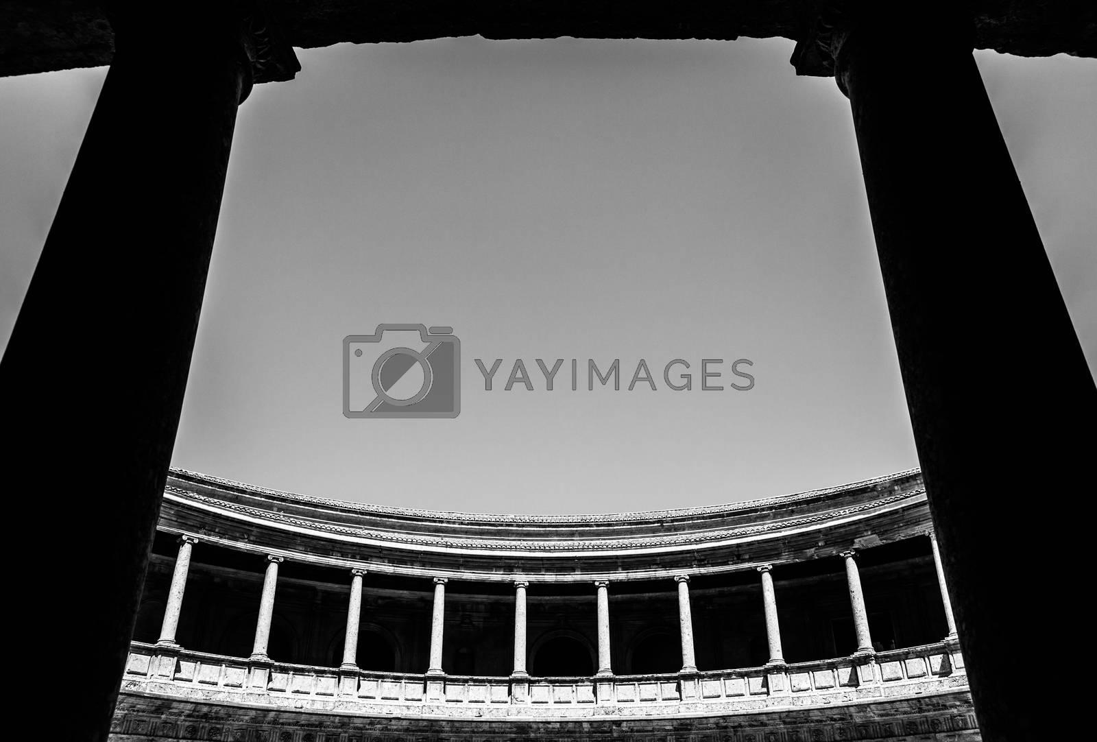 Royalty free image of Carlos V Palace by Perseomedusa