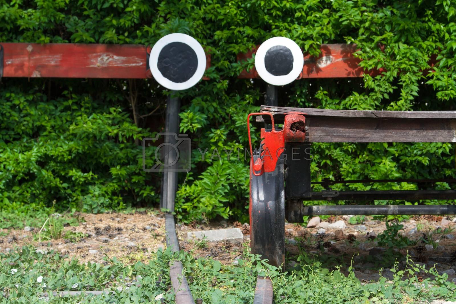 Royalty free image of Wagonette on End of Railway by niglaynike