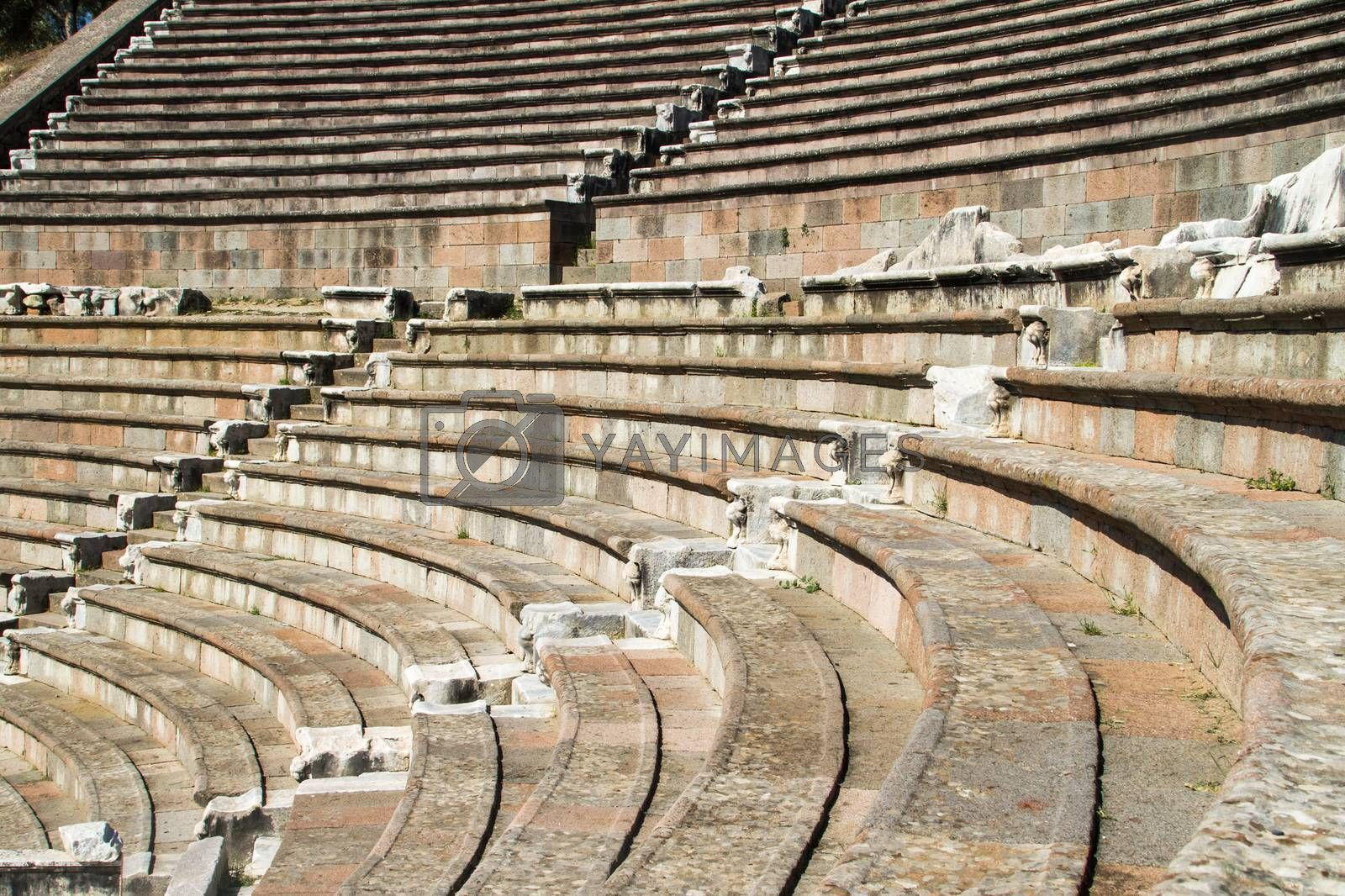 Royalty free image of Ruins of Asclepeion Theatre in Pergamon by niglaynike