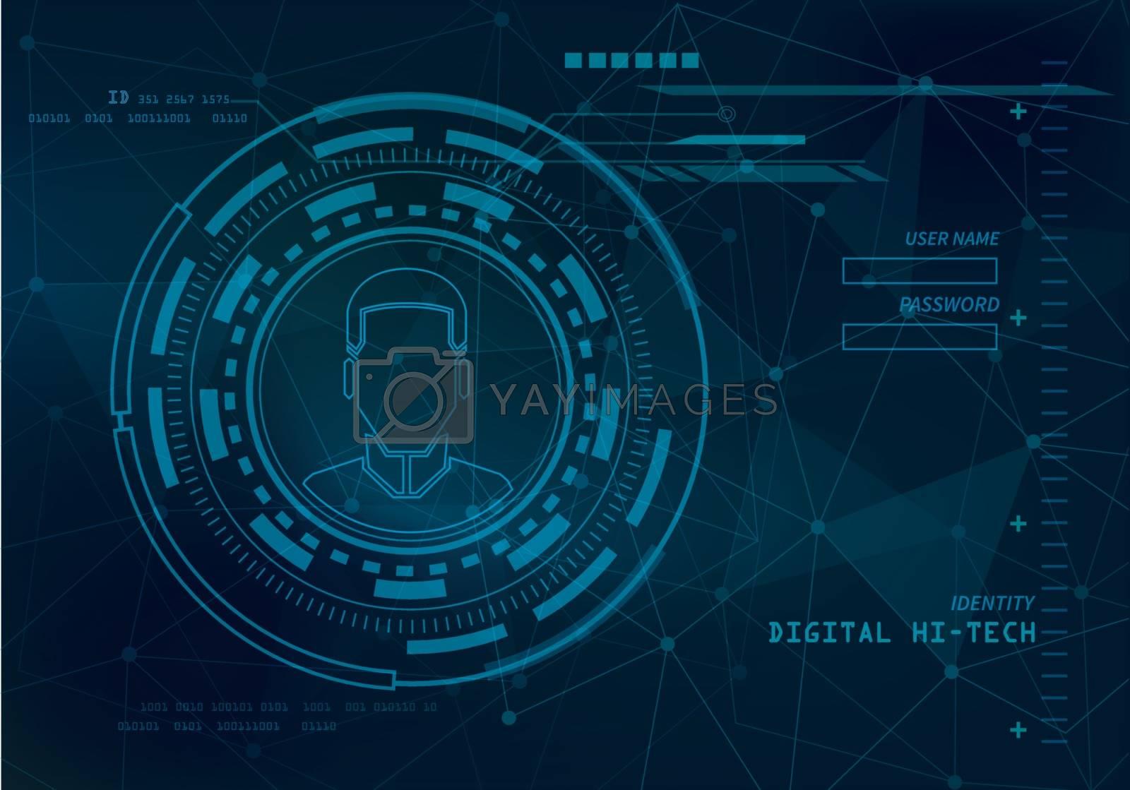 identity technology background by kaisorn