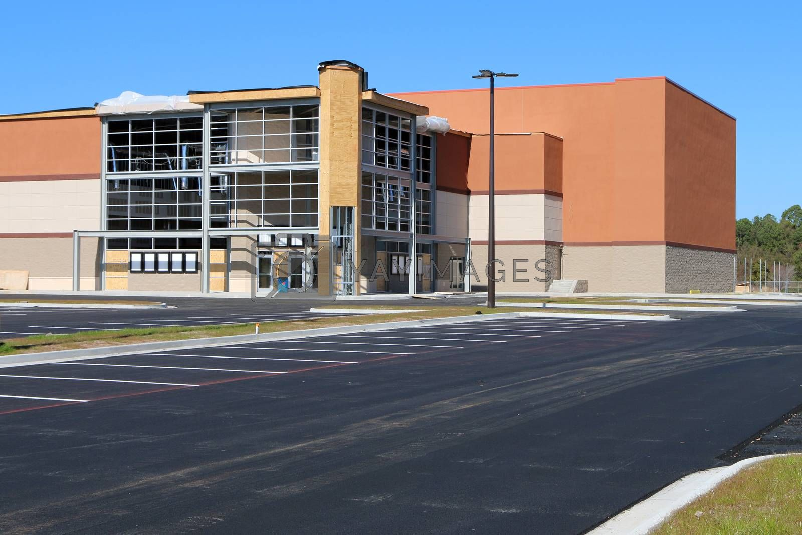 Royalty free image of New movie theatre or big box retailer by jimmartin