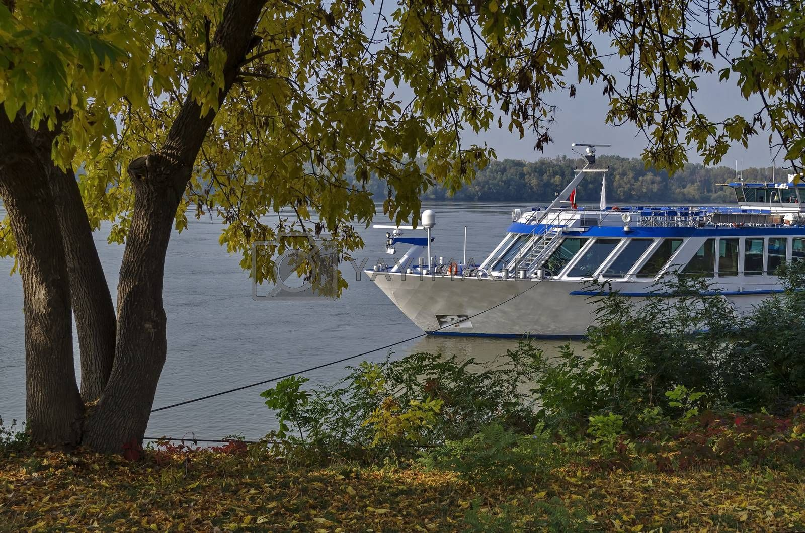 Royalty free image of Passenger cruise ship in Ruse port at Danube river, Bulgaria by vili45