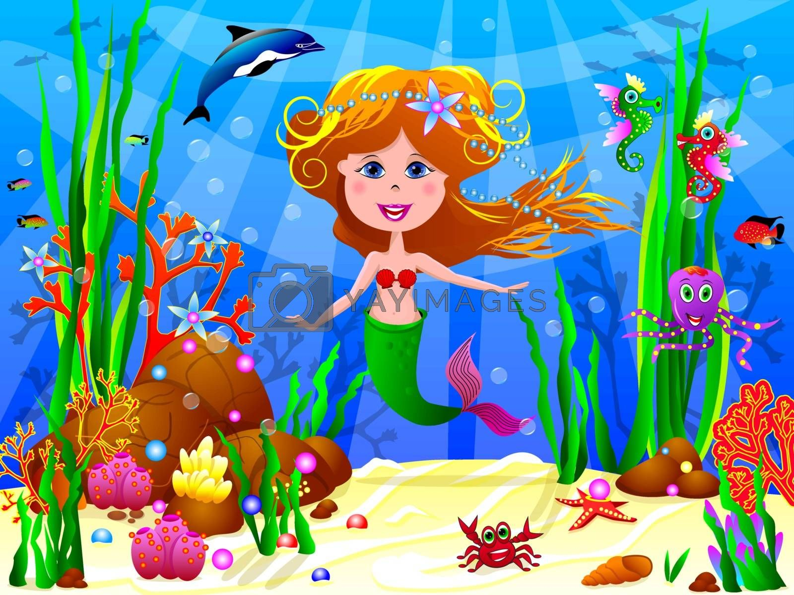 The  little Mermaid by liolle