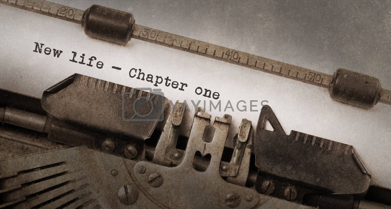 Vintage typewriter, old rusty and used, new life chapter 1