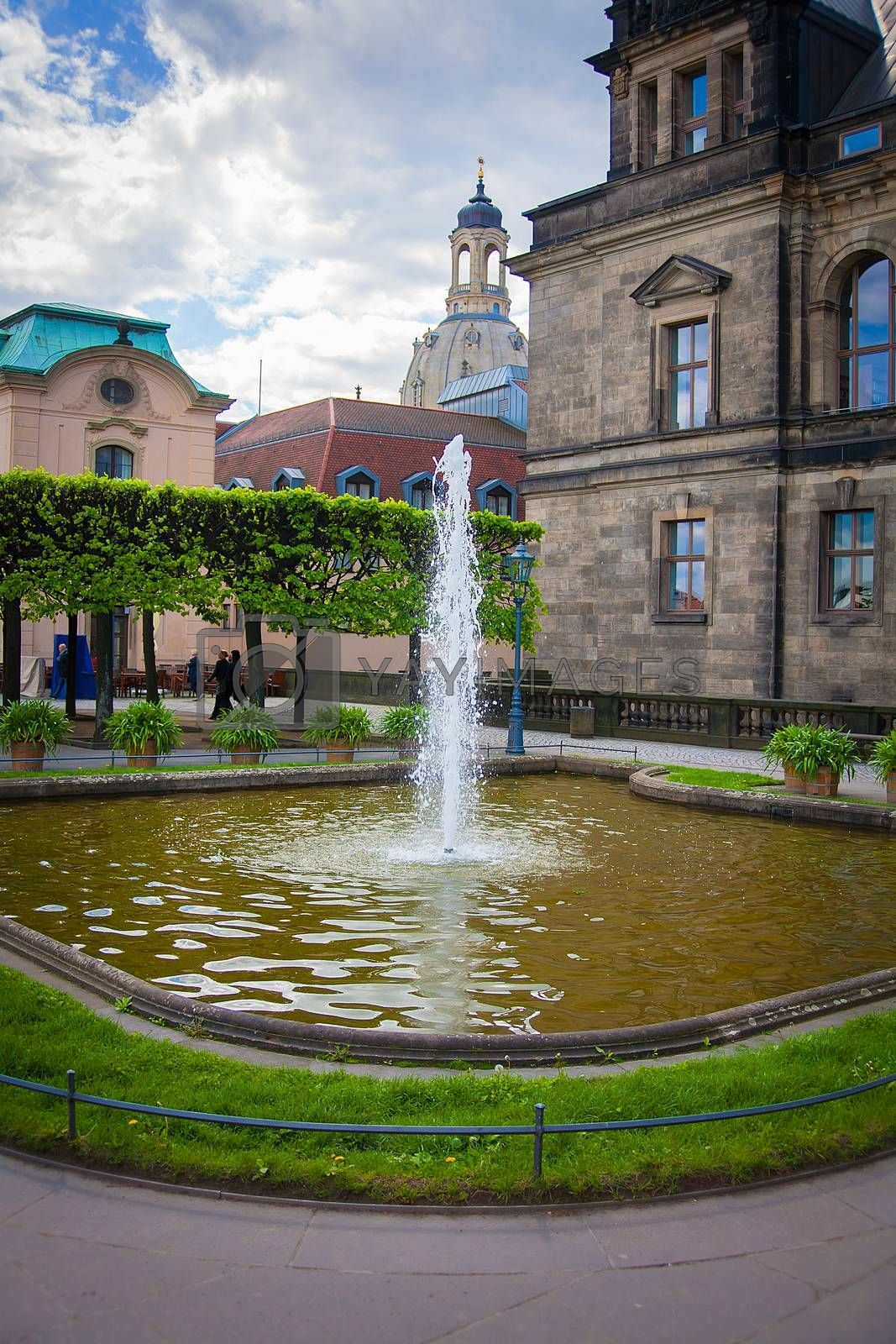 Royalty free image of Fountain of the Zwinger palace, Dresden, Germany by sfinks