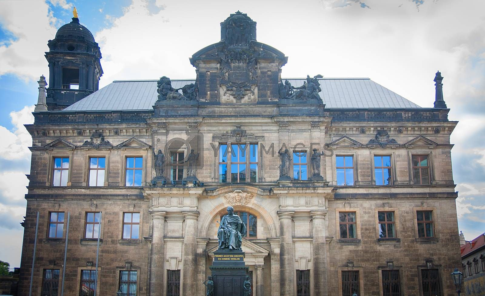 Royalty free image of Monument of King Friedrich August by sfinks