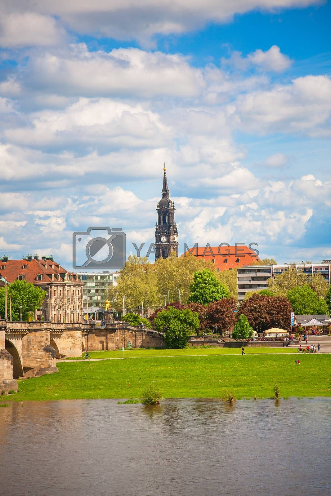 Royalty free image of Dresden in a beautiful summer day, Germany by sfinks