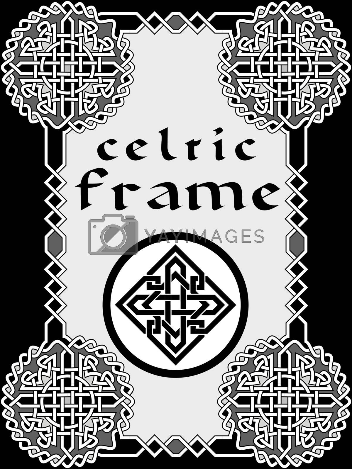 Frame in Celtic style a vector an element of design