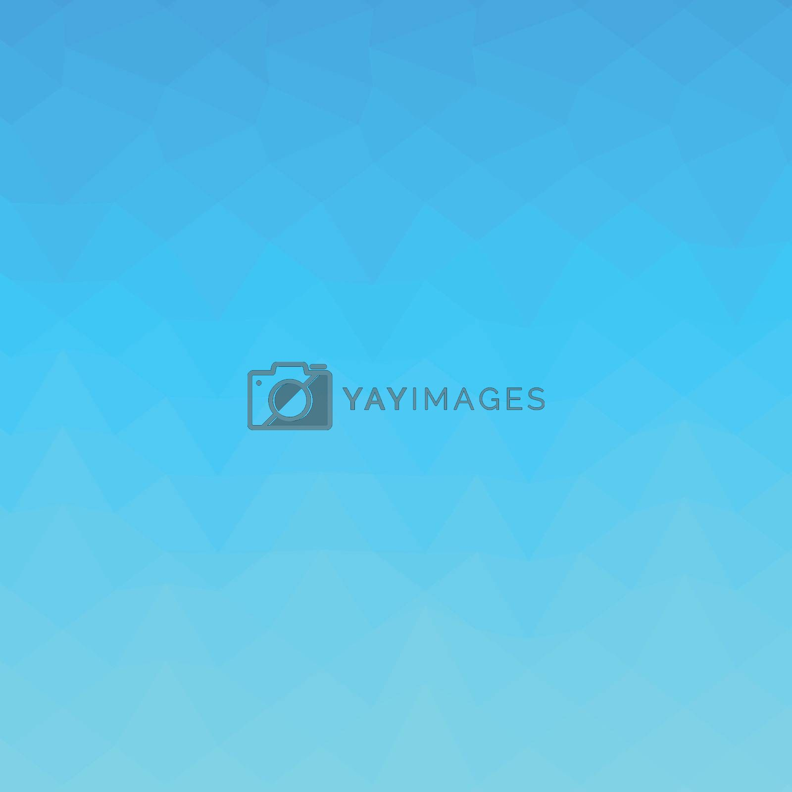 Low polygon style illustration of a blue sky abstract background.