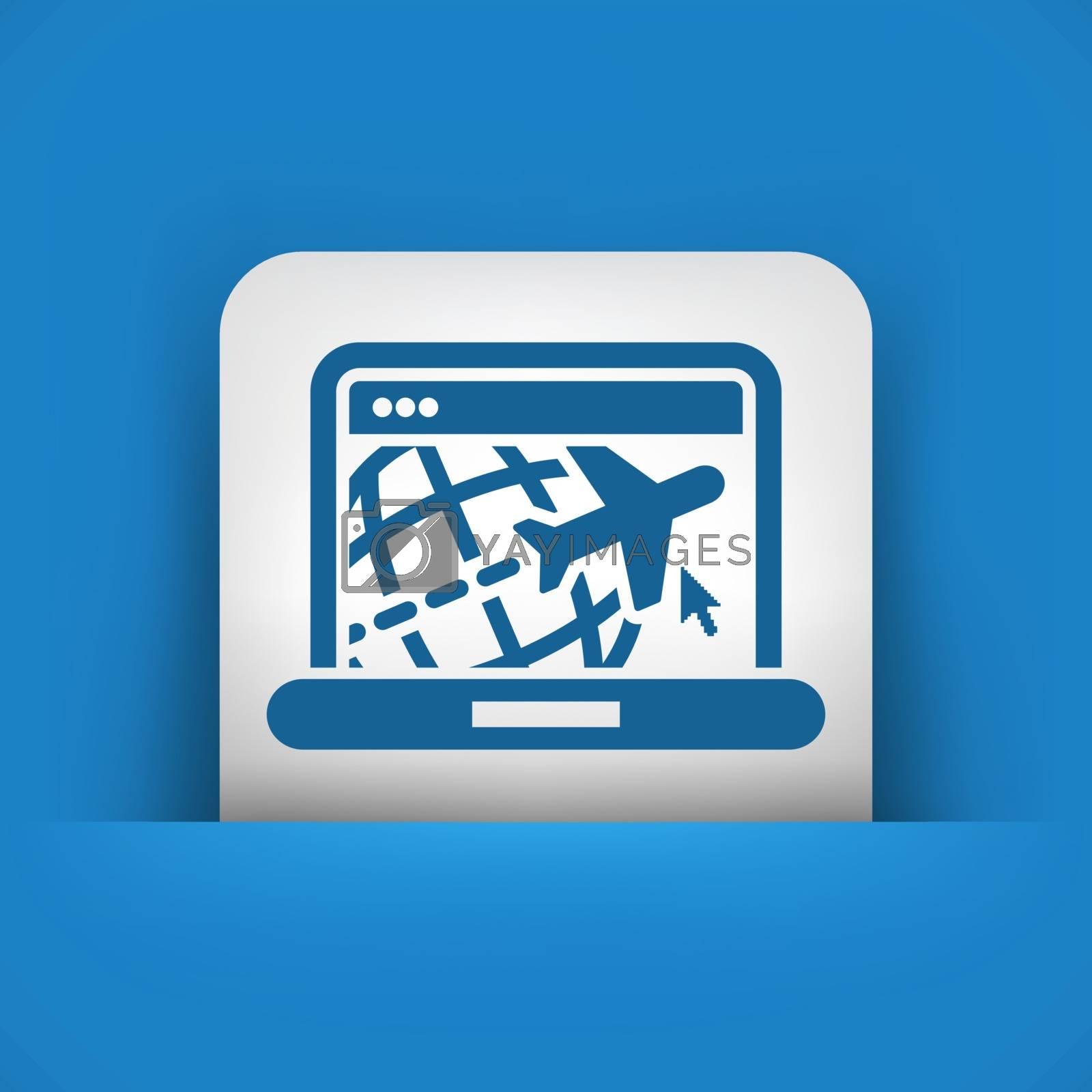 Illustration of travel web agency icon