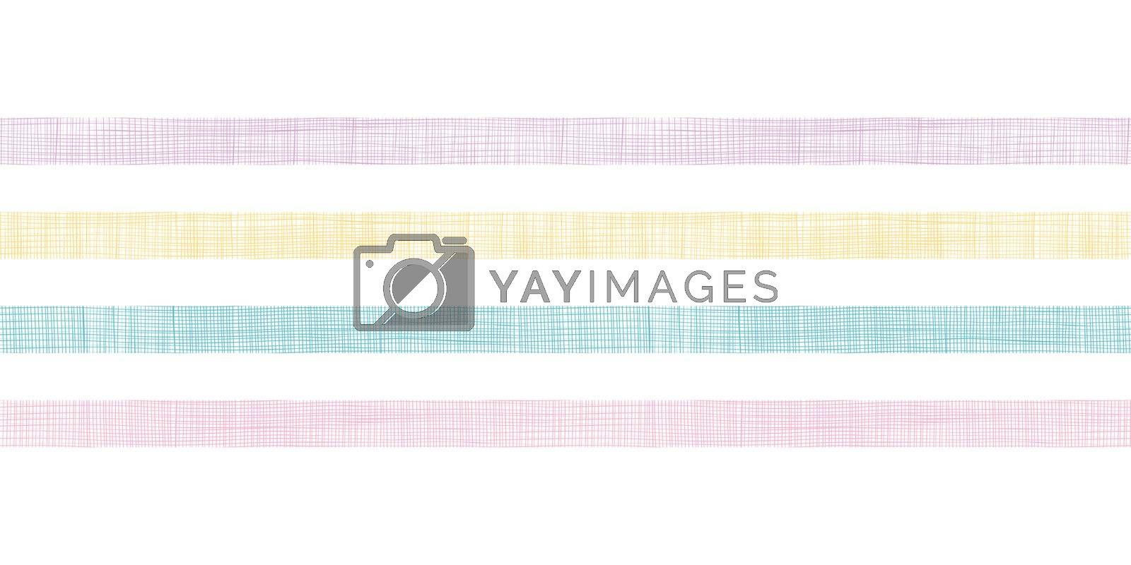 vector abstract textile colorful stripes horizontal seamless pattern background