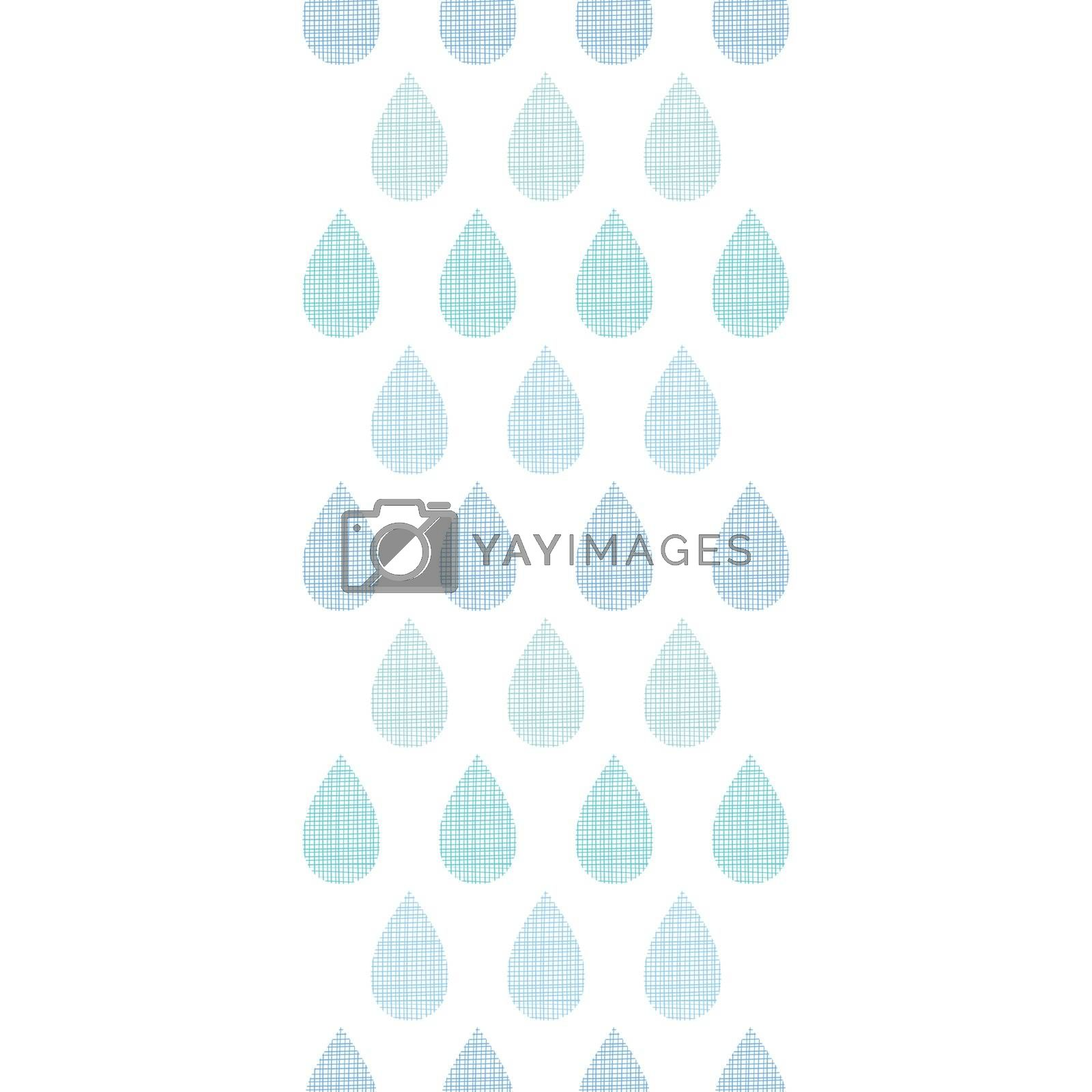 vector abstract textile blue rain drops stripes vertical seamless pattern background