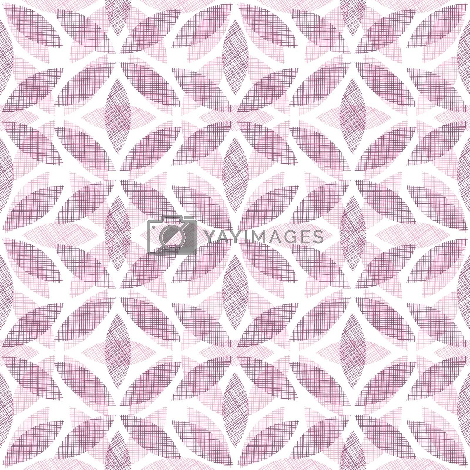 vector abstract textile  purple ornament geometric seamless pattern background