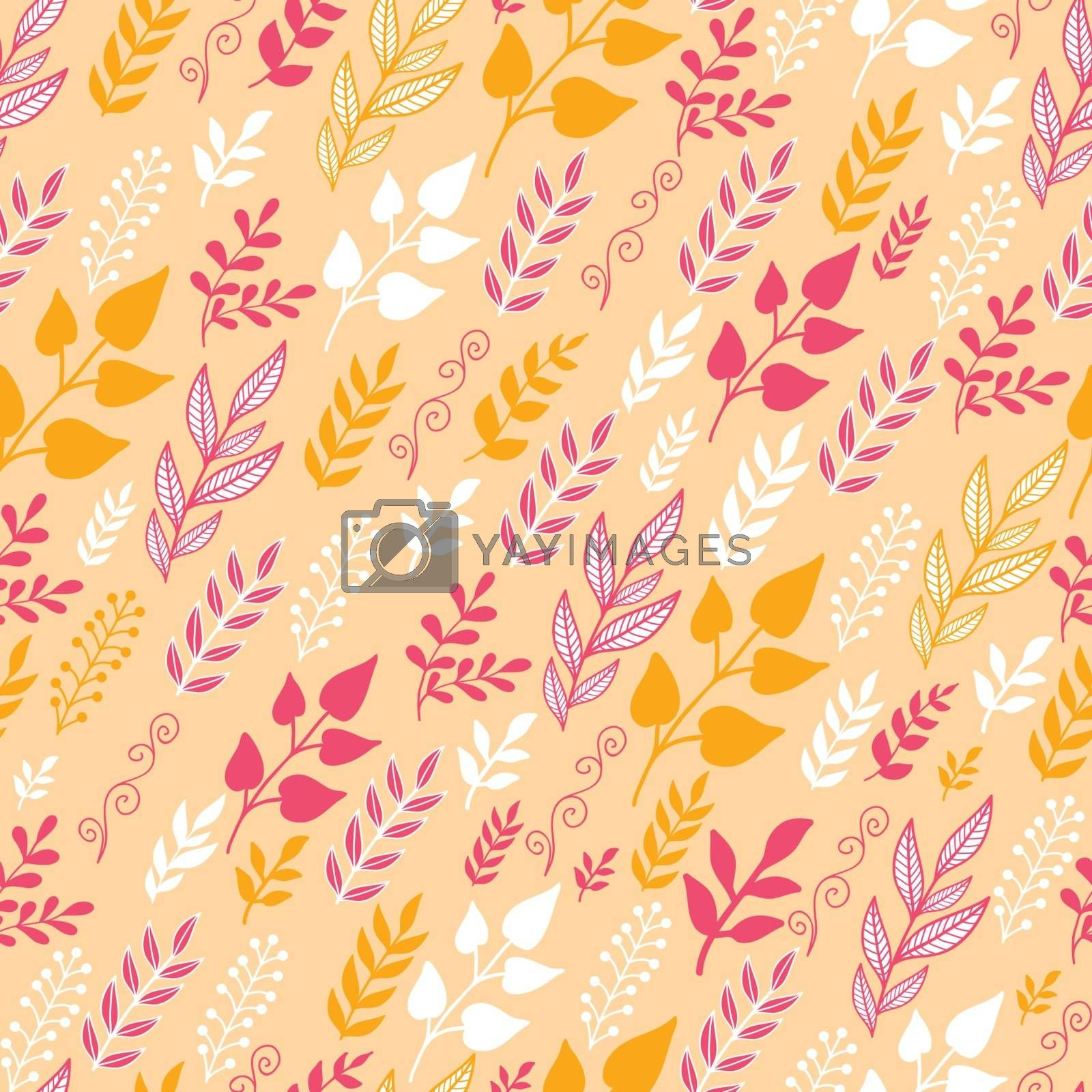 Vector Fall Filed moving In the Wind Seamless Pattern background