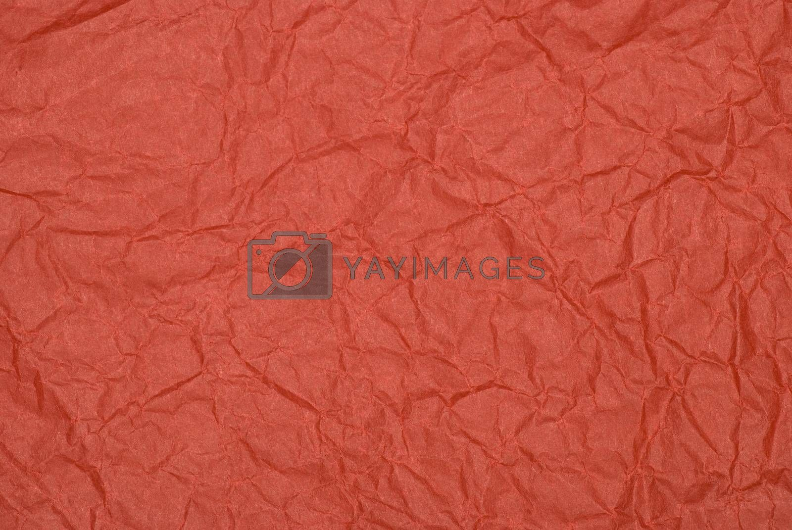 Crumpled red tissue paper background.