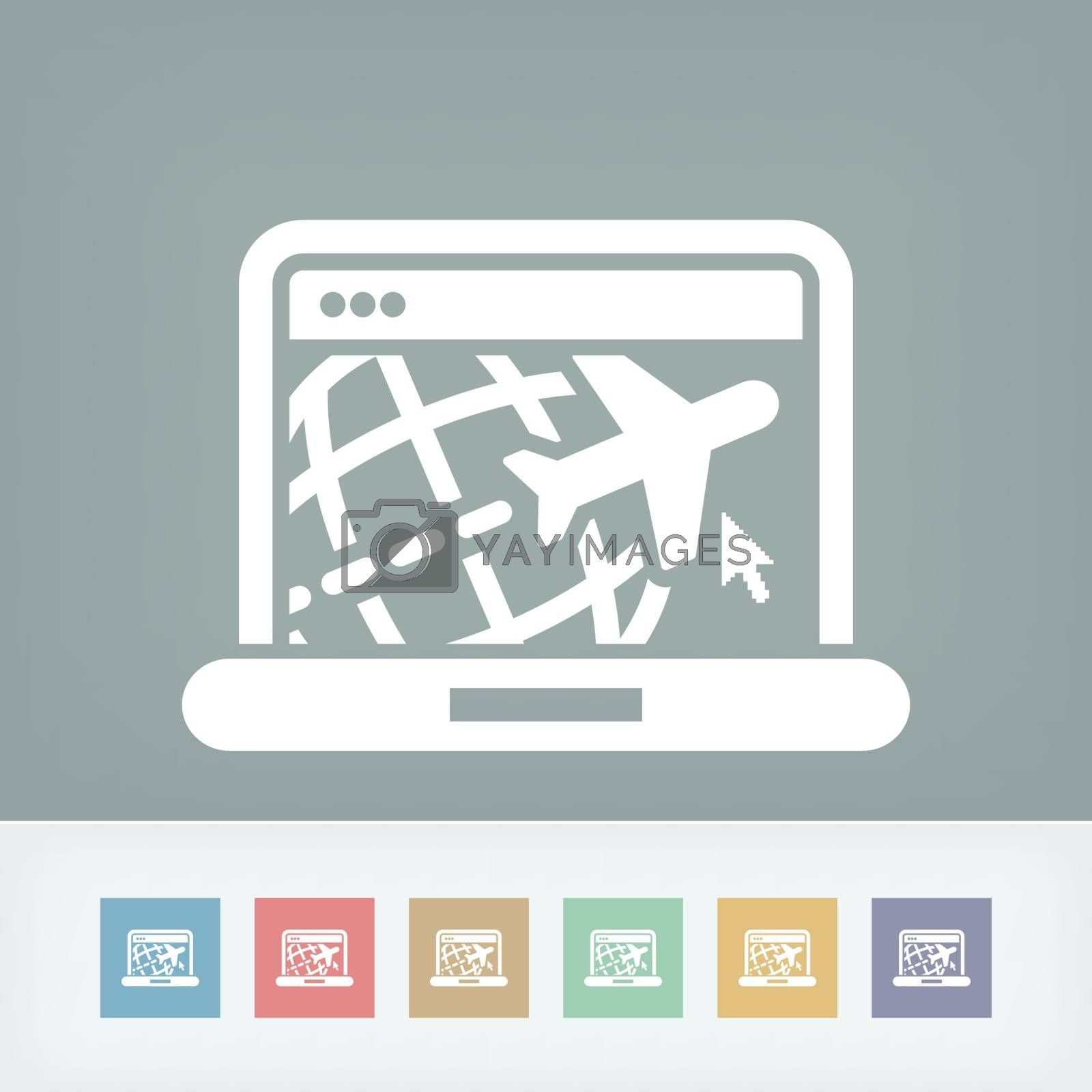 Travel web agency icon