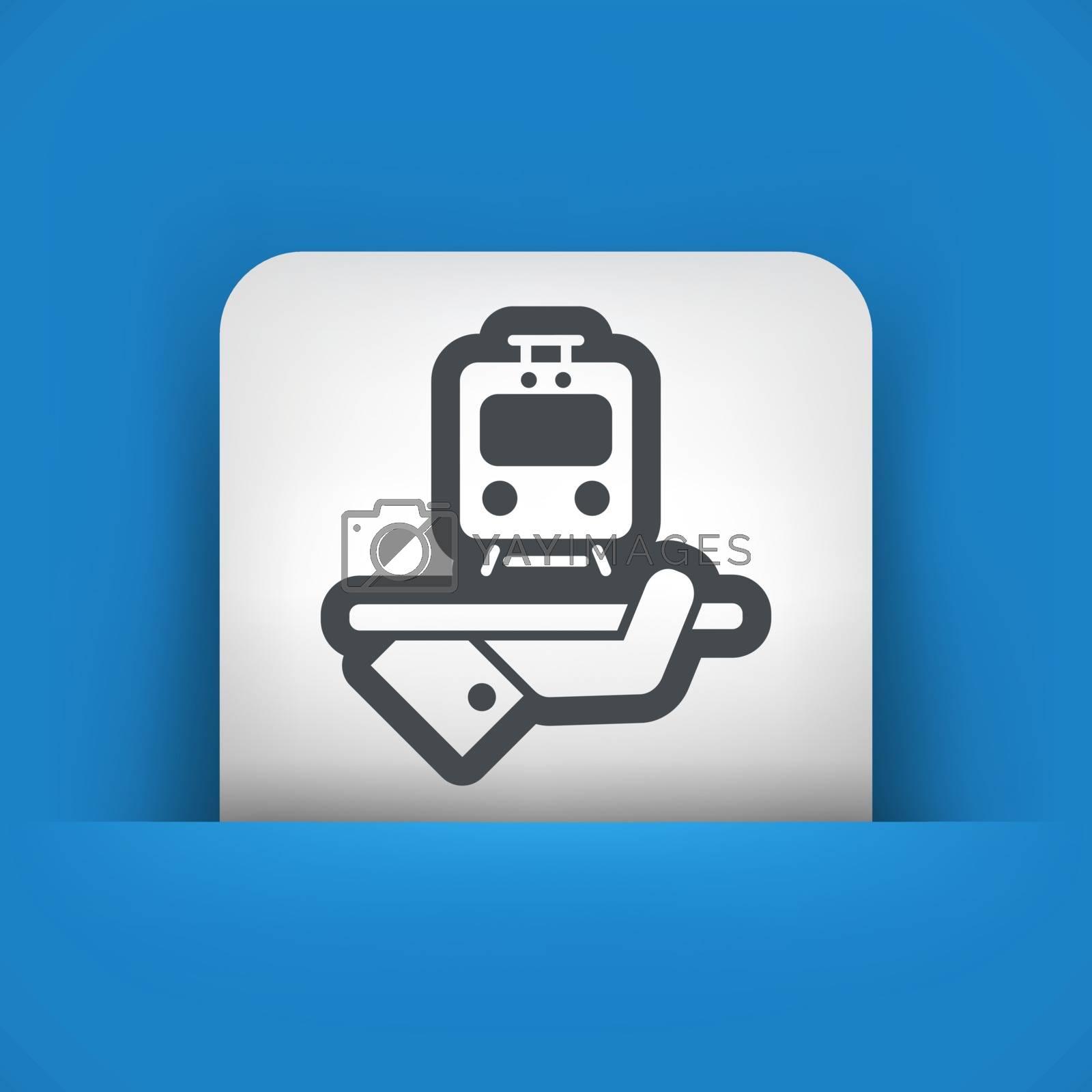 Travel icon. Train service.