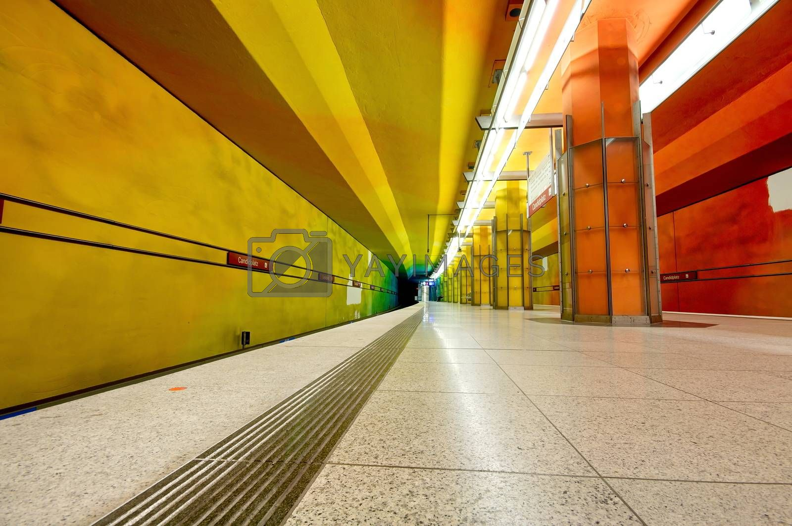 Royalty free image of Candidplatz subway station in Munich, Germany by anderm