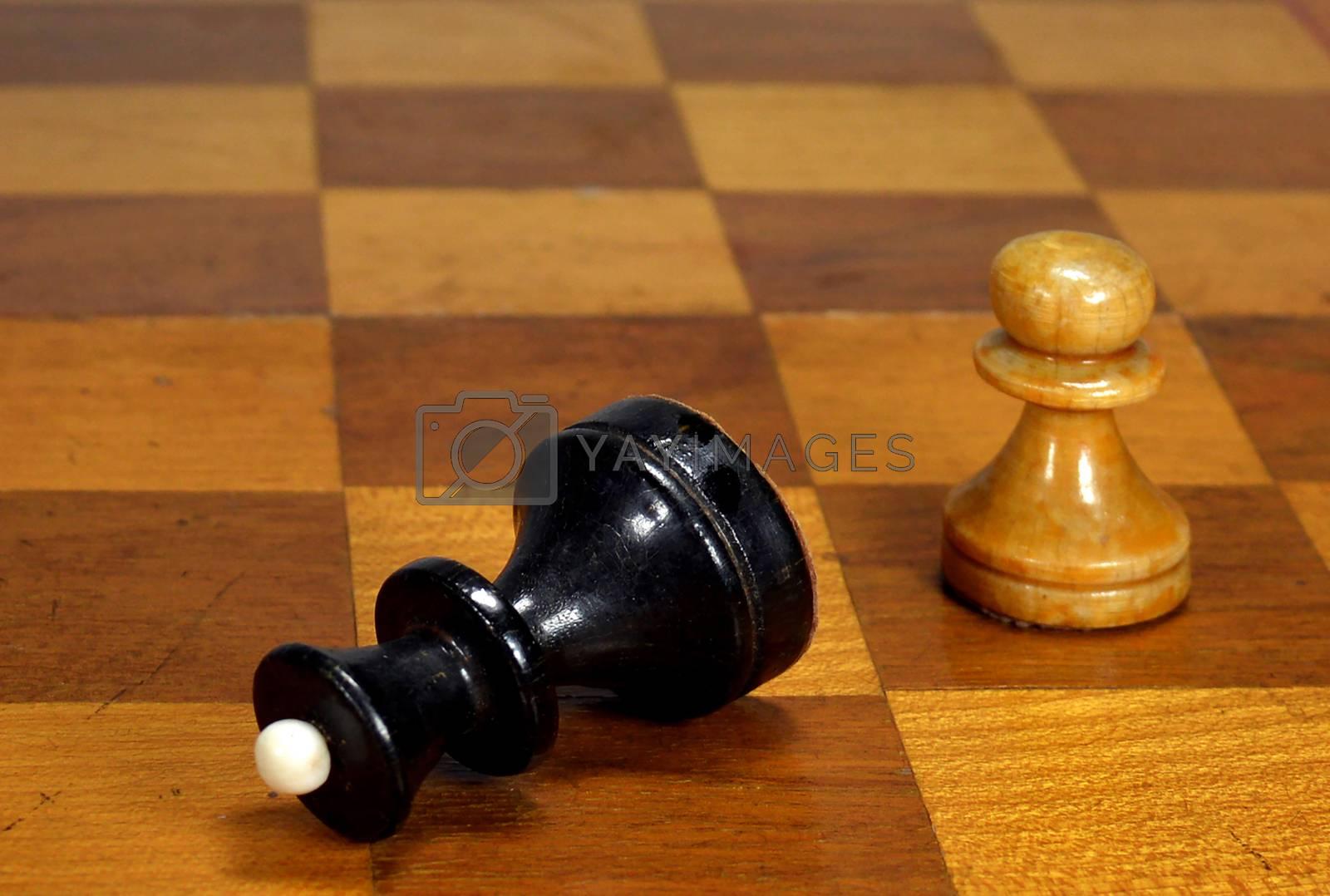 Checkmate pawn queen - conceptual idea