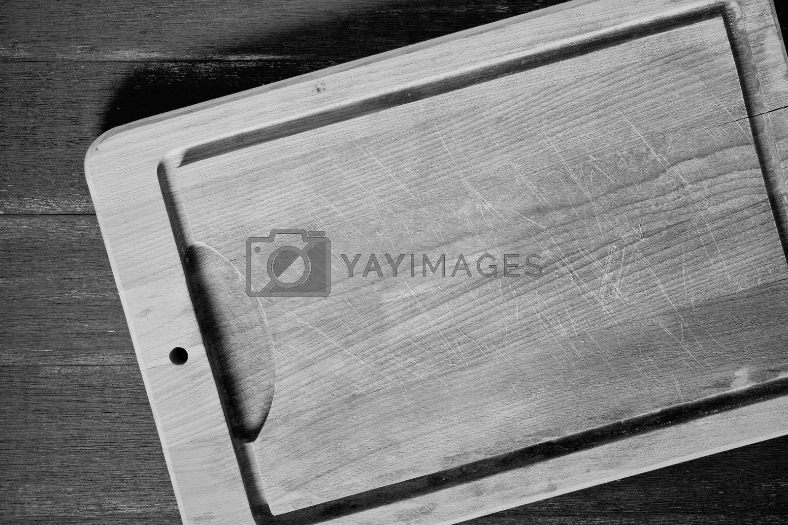 Close up photograph of a wooden board