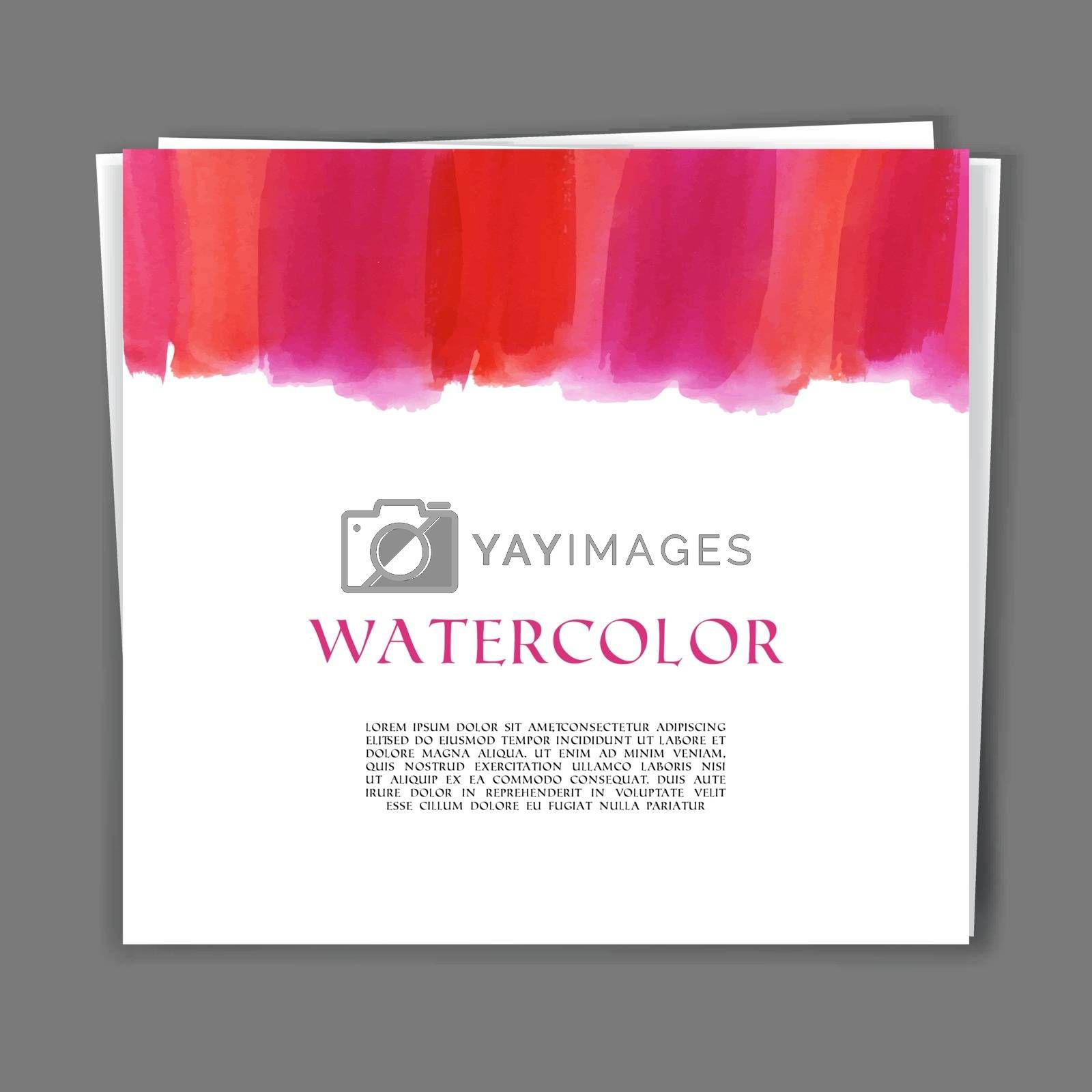 Vector illustration of Hand painted watercolor texture