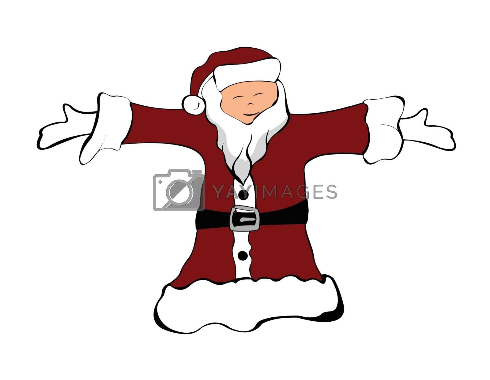 Santa Claus illustration isolated on white