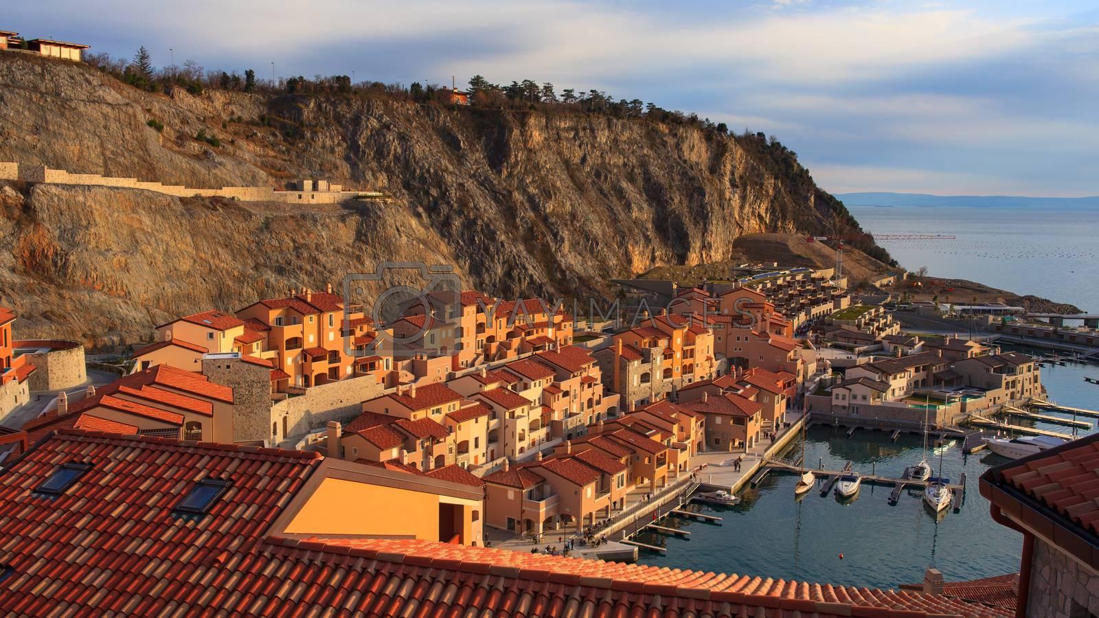 View of vacation house in Porto piccolo, Sistiana. Italy