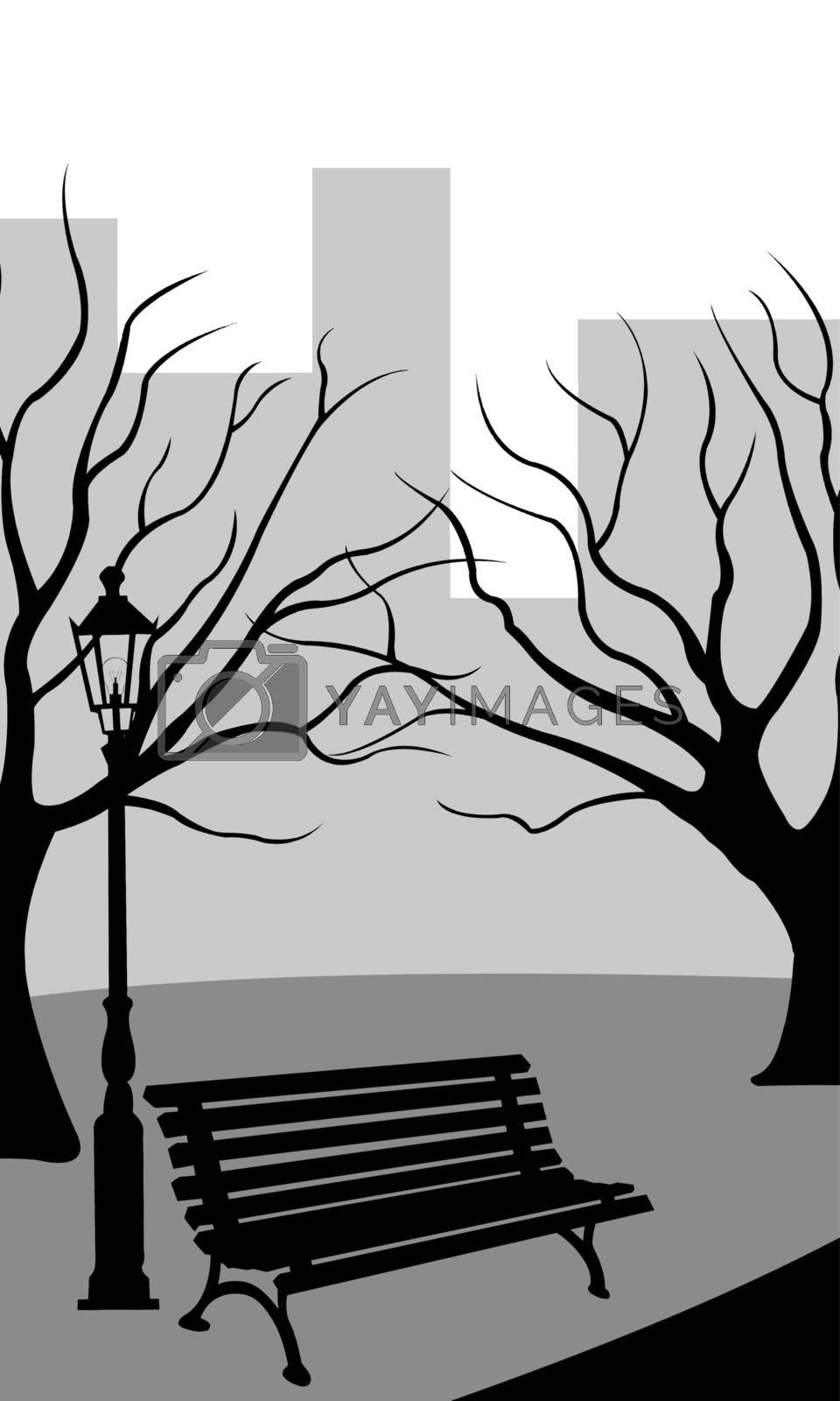 illustration of a park