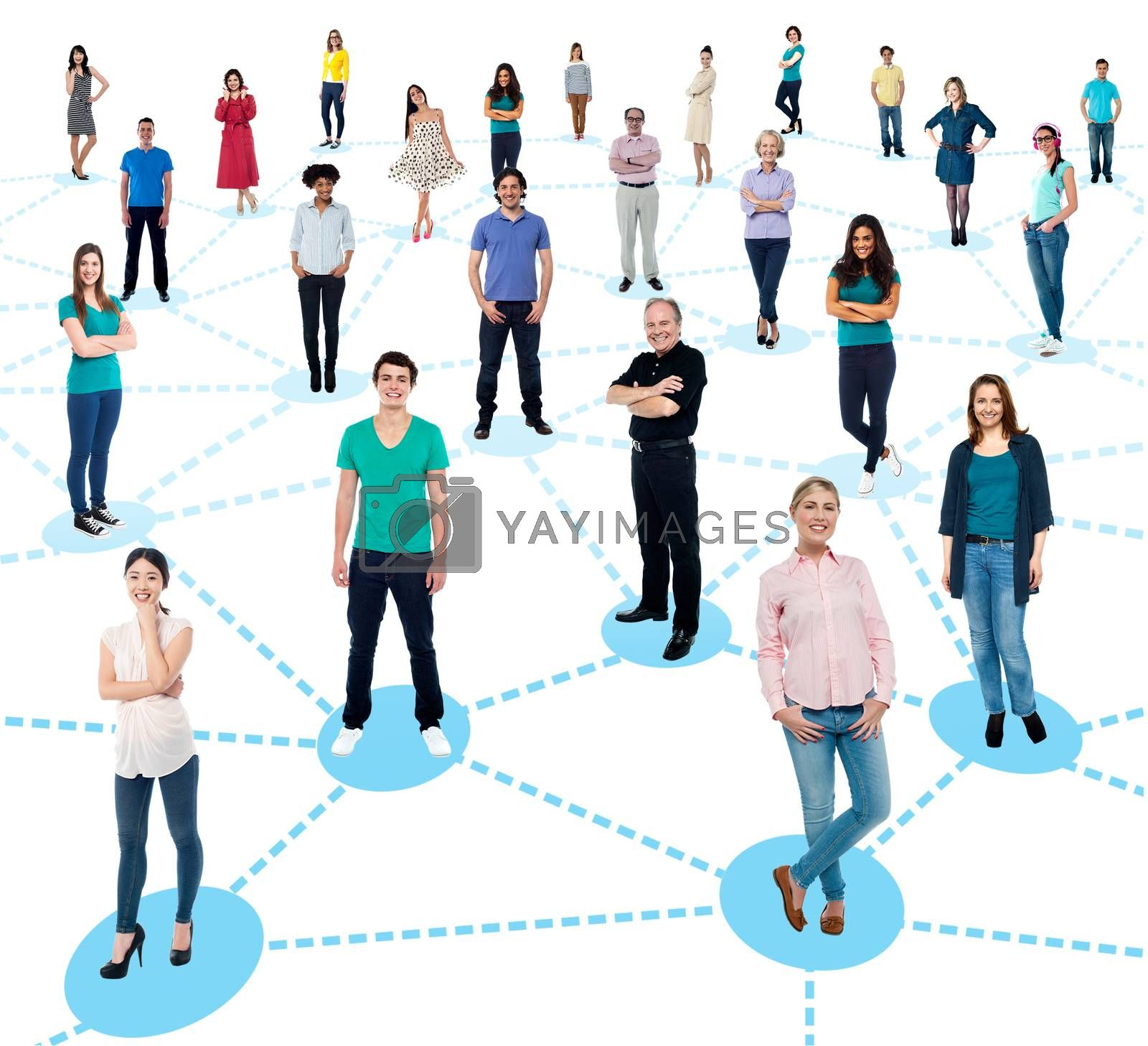 Diversified people networking by stockyimages