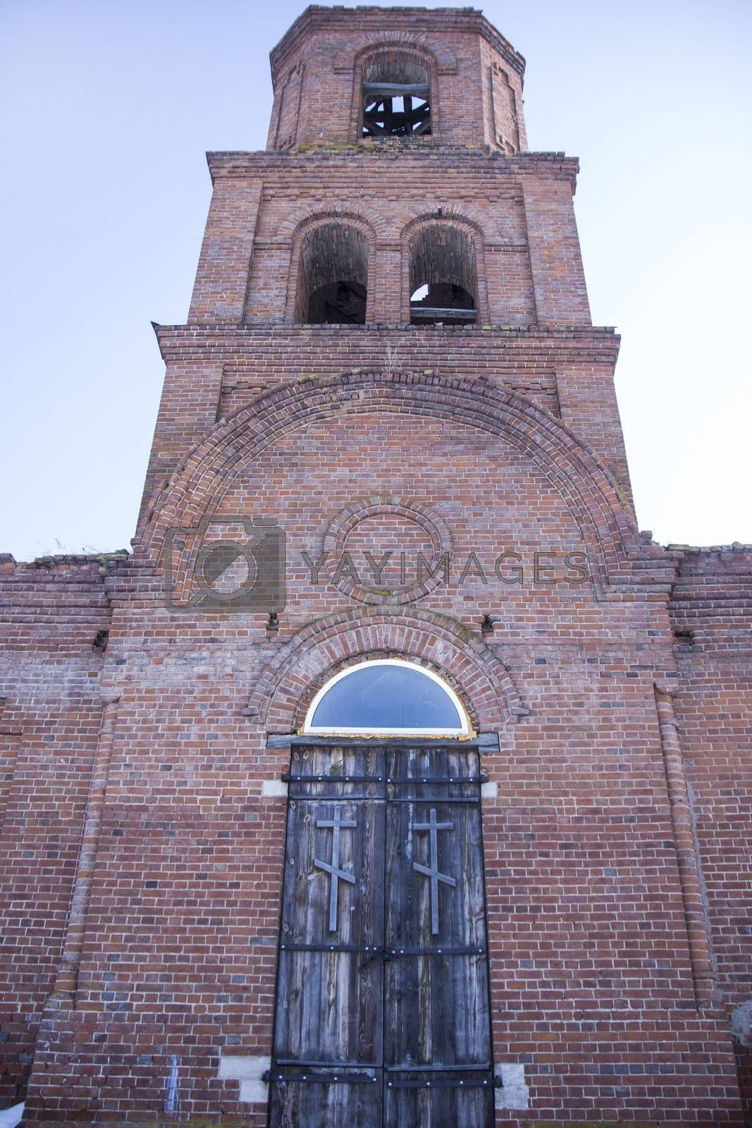 destroyed the old brick church without domes