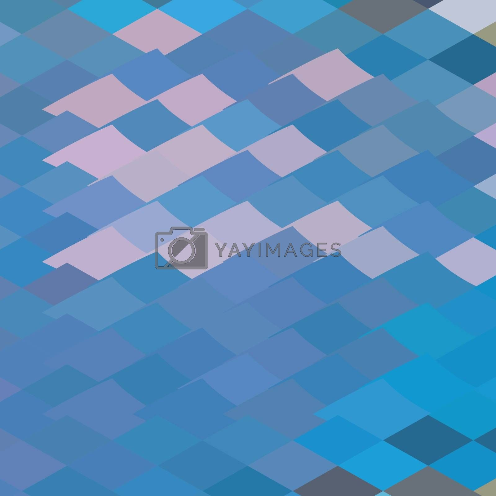 Low polygon style illustration of a tent abstract background.
