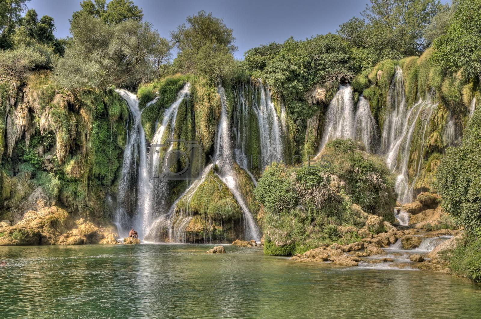 Royalty free image of Kravice waterfalls in Bosnia Herzegovina by anderm