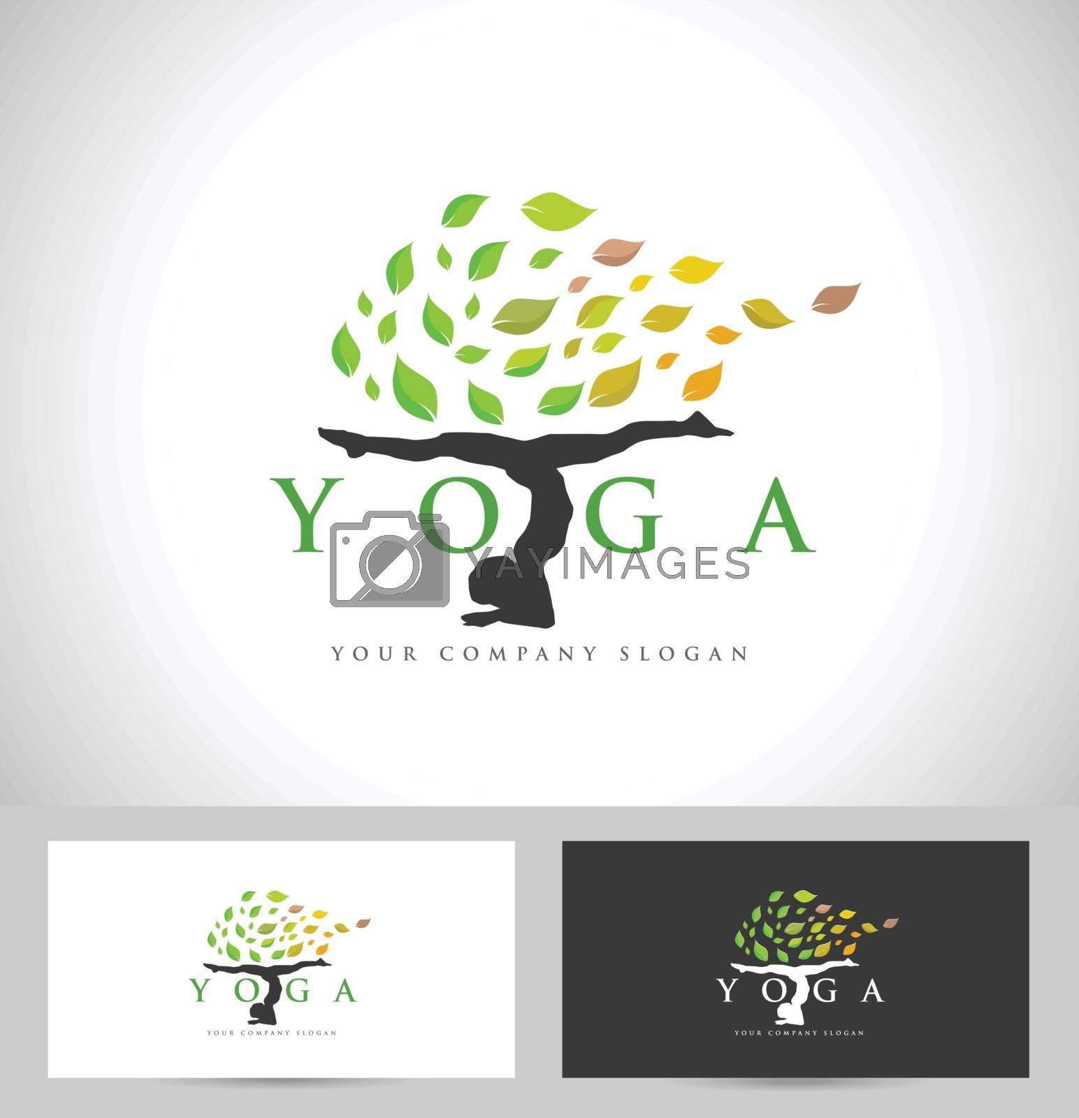 Yoga Logo Design. Creative Yoga Icon with Yoga Position