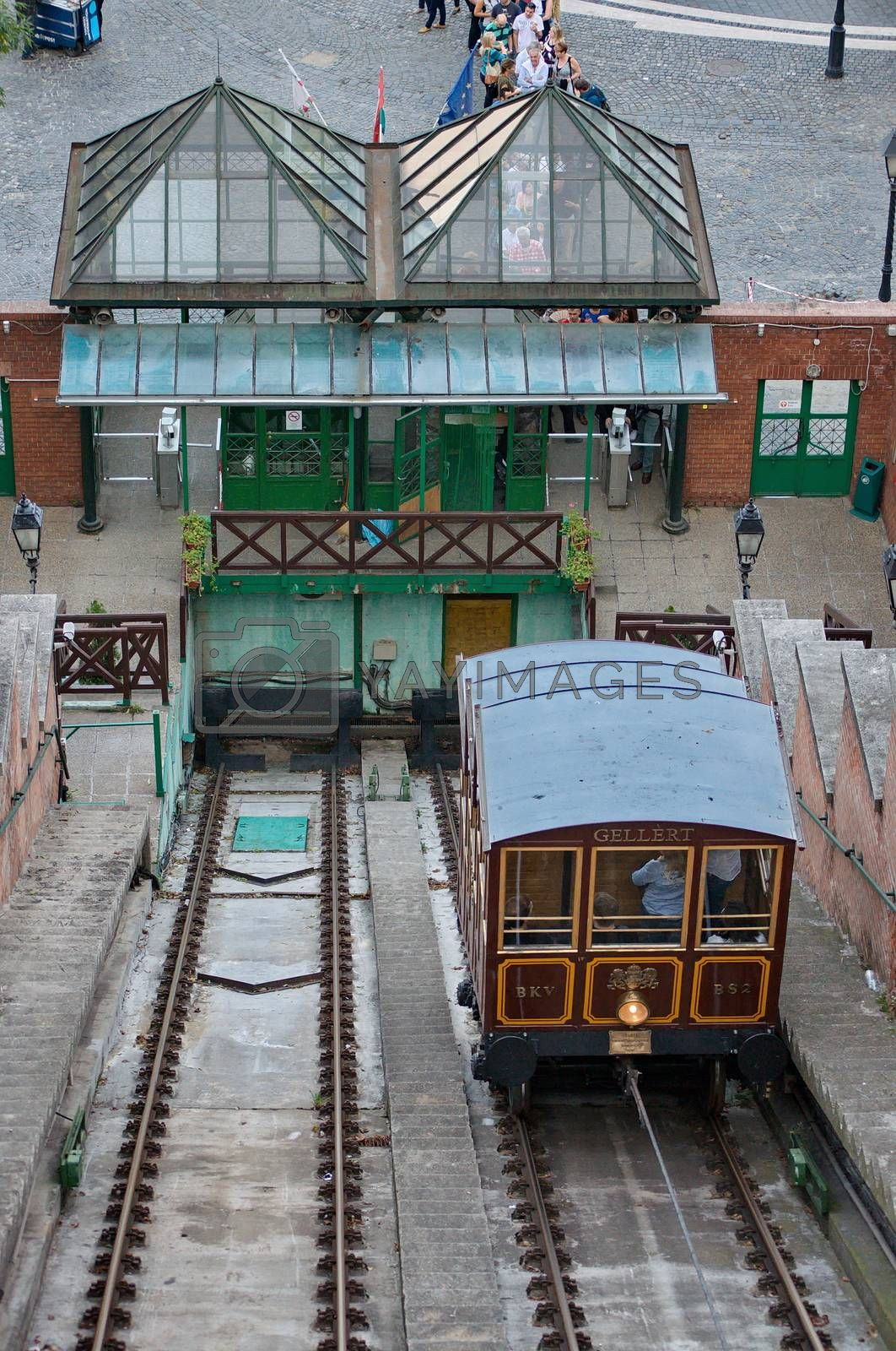 Royalty free image of BUDAPEST - OCTOBER 28: Funicular in Budapest is part of the UNES by anderm