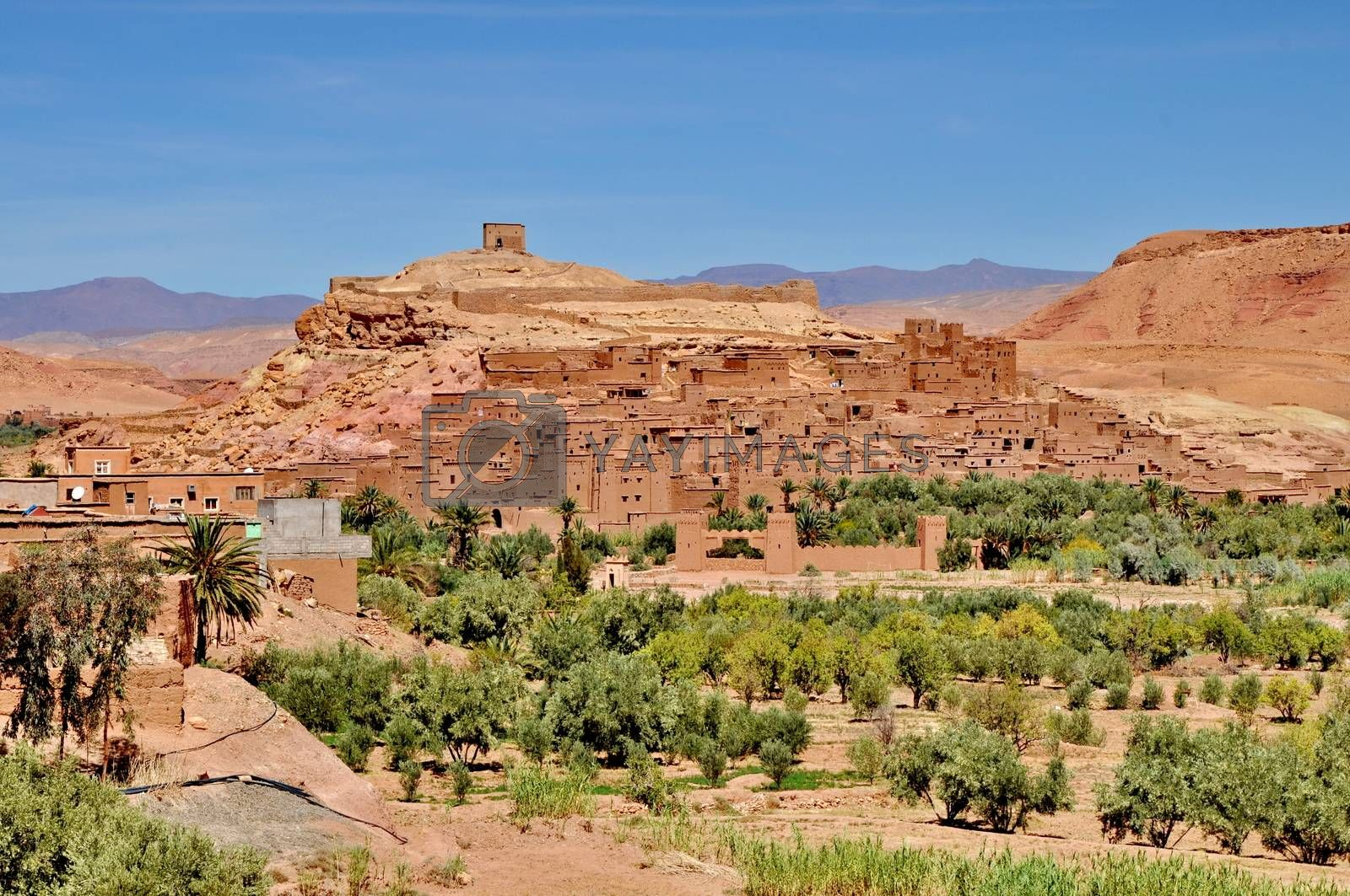 Royalty free image of Ait Benhaddou Ksar Kasbah near Ourzazate in Morocco by anderm