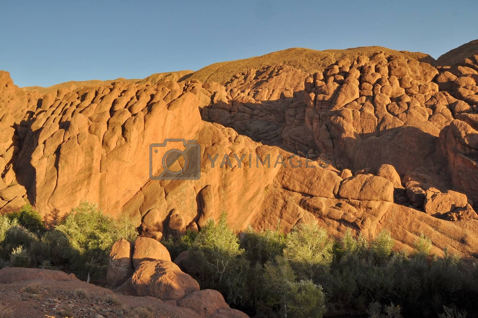 Royalty free image of Strange rock formations in Dades Gorge, Morocco, Africa by anderm