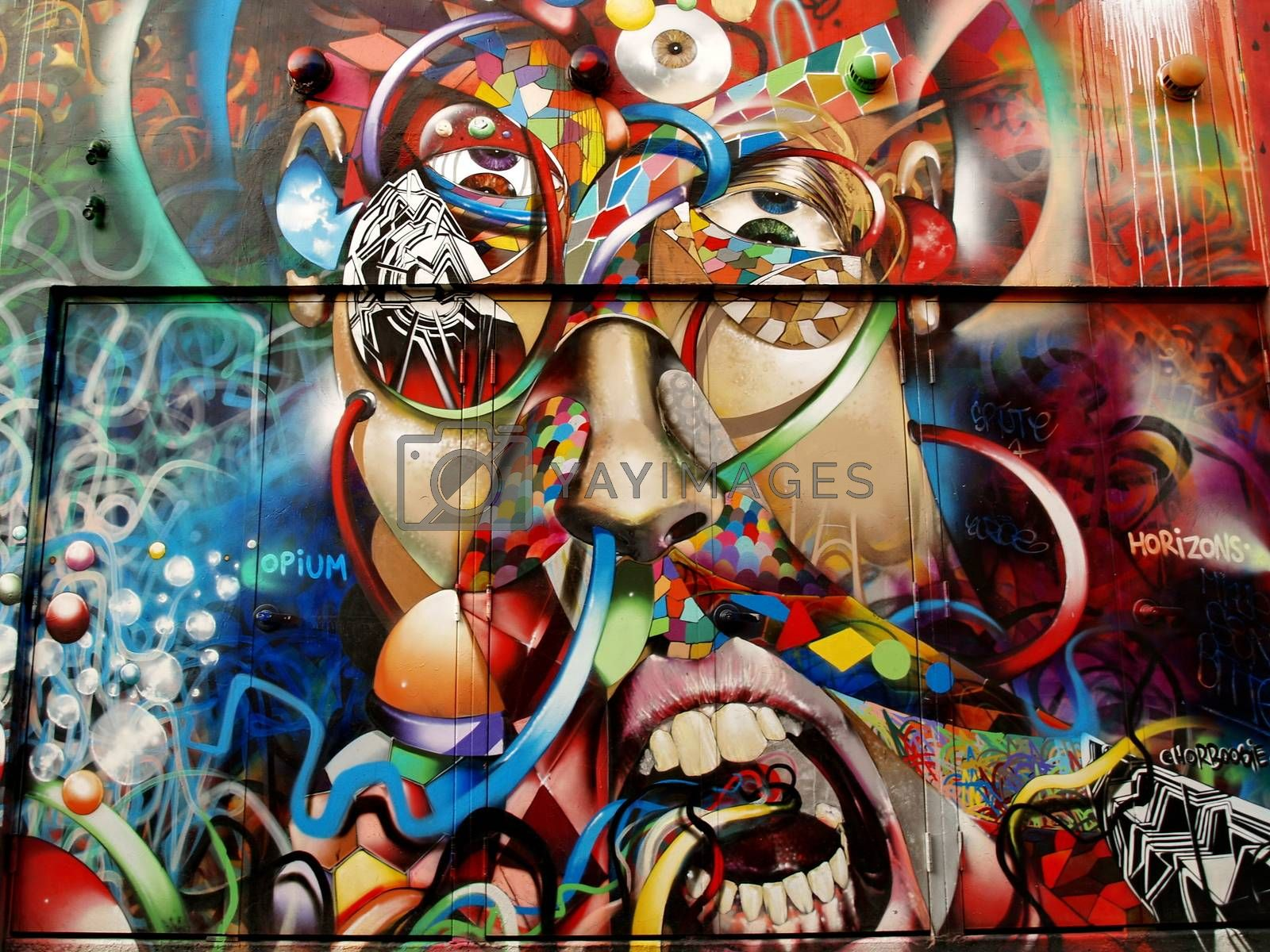 Royalty free image of SAN FRANCISCO - SEPTEMBER 03 : Graffiti in Mission District neig by anderm