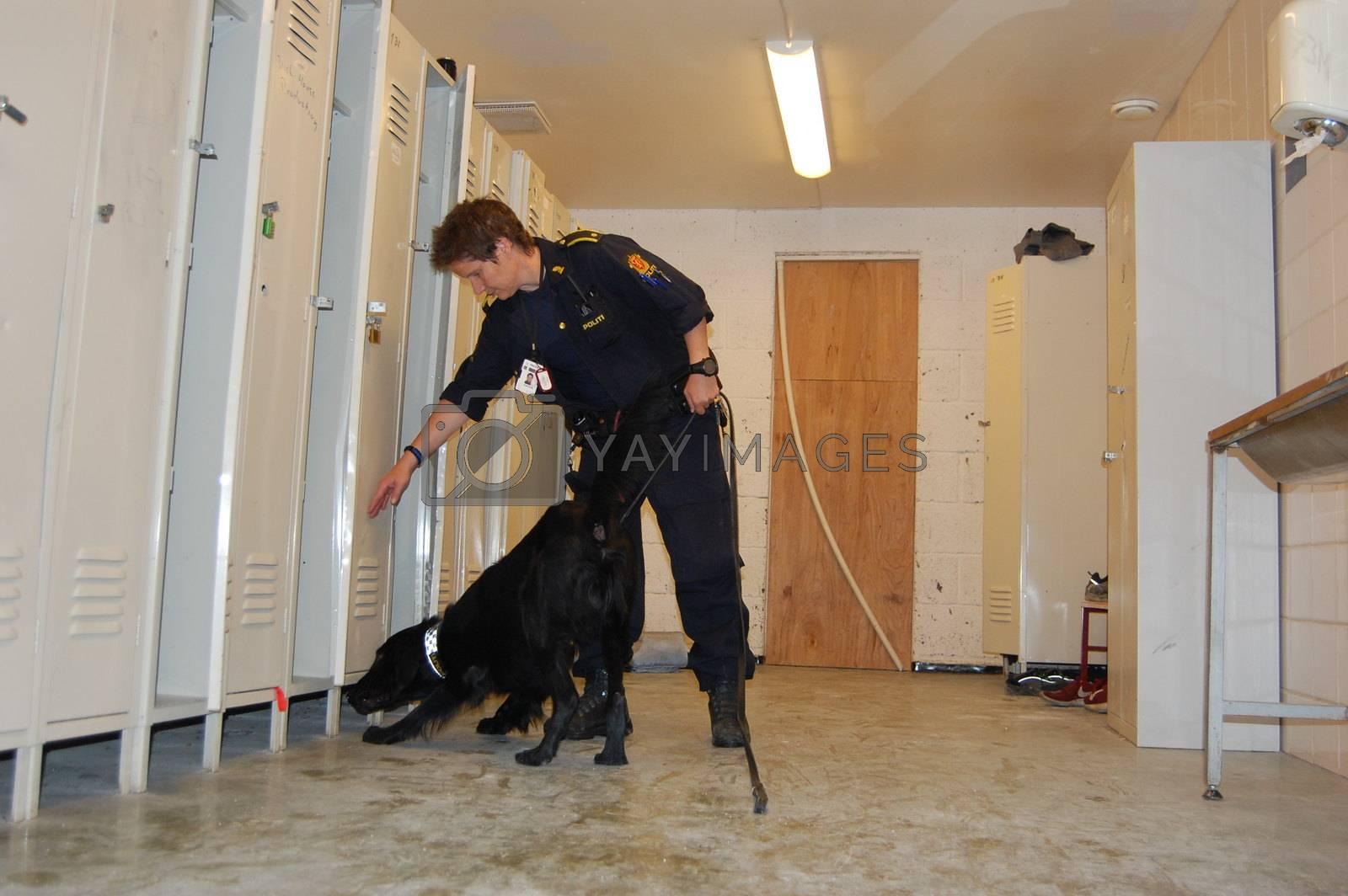 Hundefører Torill Borøchstein og Nando. Oslo politidistrikt by camilla.svendsen@nettavisen.no