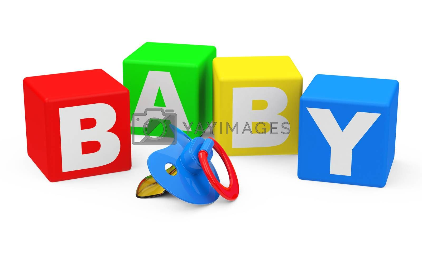 3d generated picture of a BABY concept