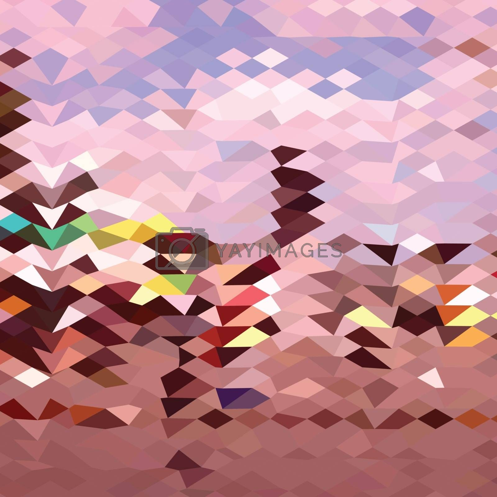 Low polygon style illustration of a horseman abstract background.